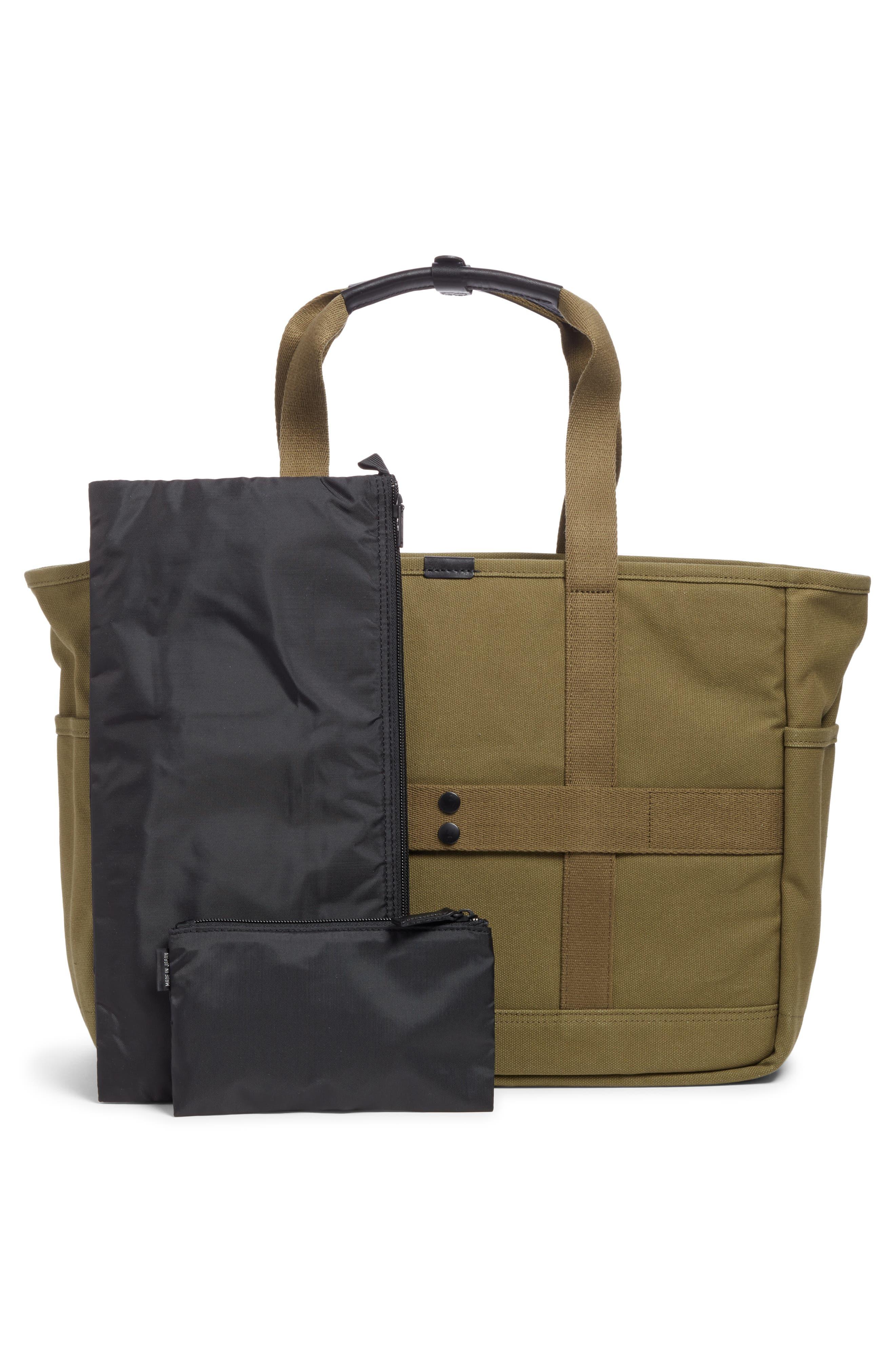 x Porter Travel Tote Bag,                             Alternate thumbnail 3, color,                             OLIVE