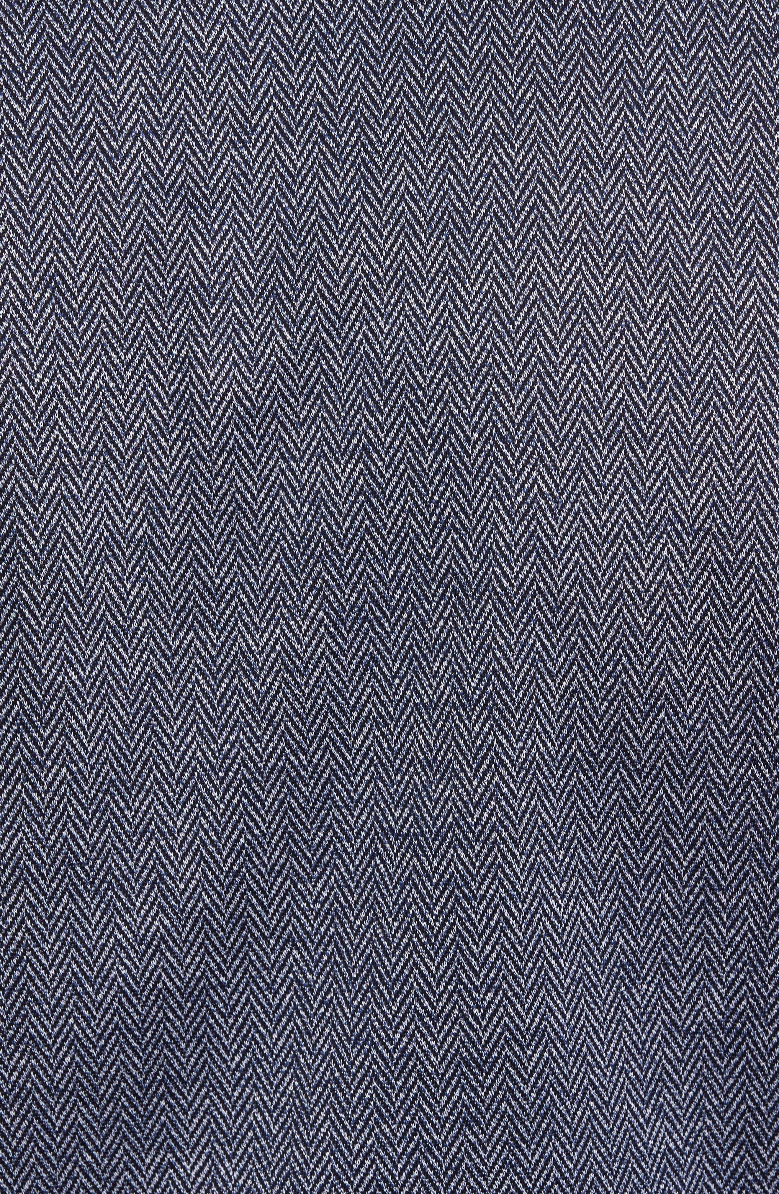 Paul&Shark Herringbone Sport Shirt,                             Alternate thumbnail 5, color,                             400