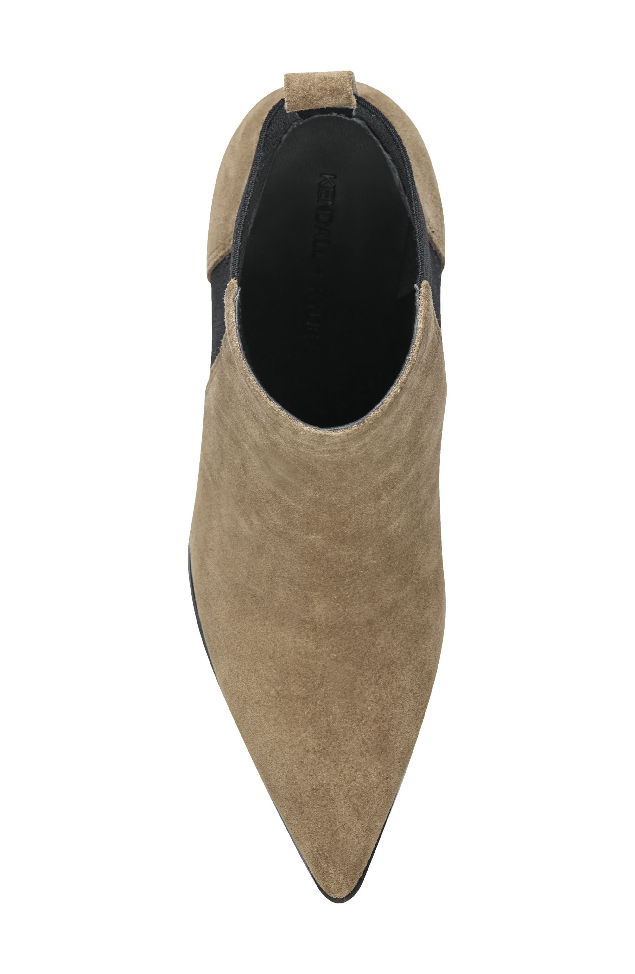 Pointy Toe Chelsea Bootie,                             Alternate thumbnail 5, color,                             TAUPE