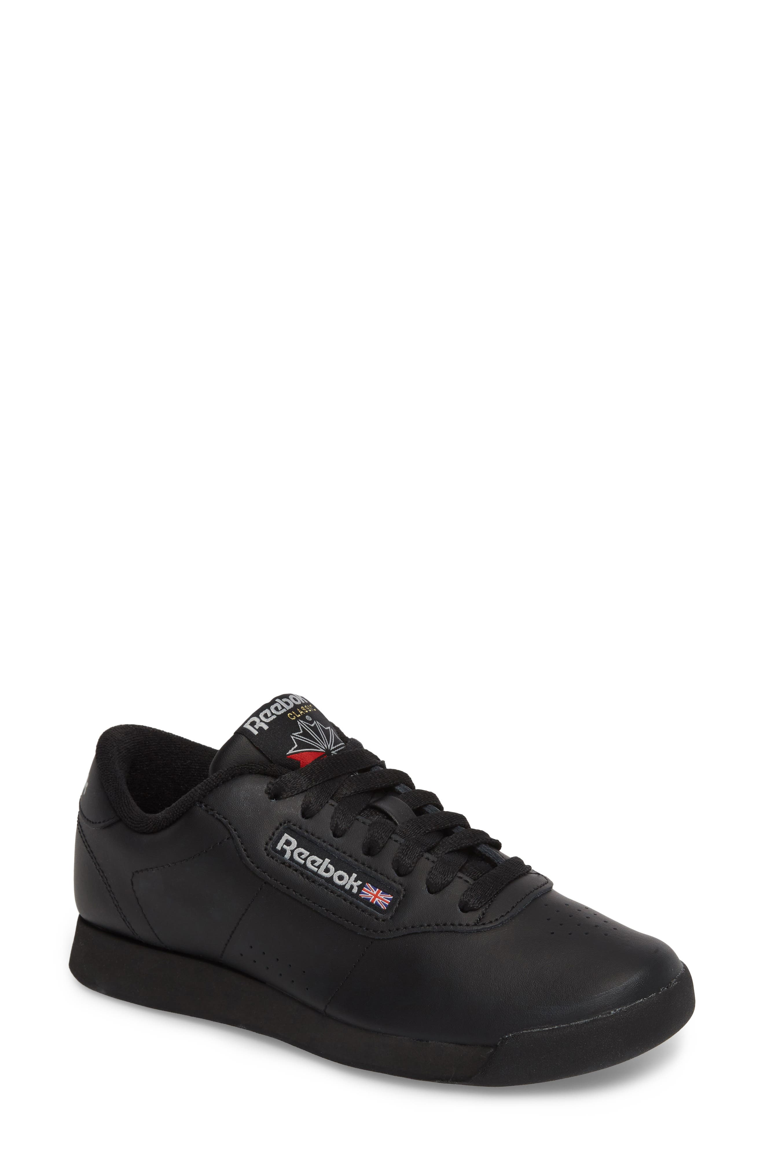 Princess Sneaker,                         Main,                         color, BLACK