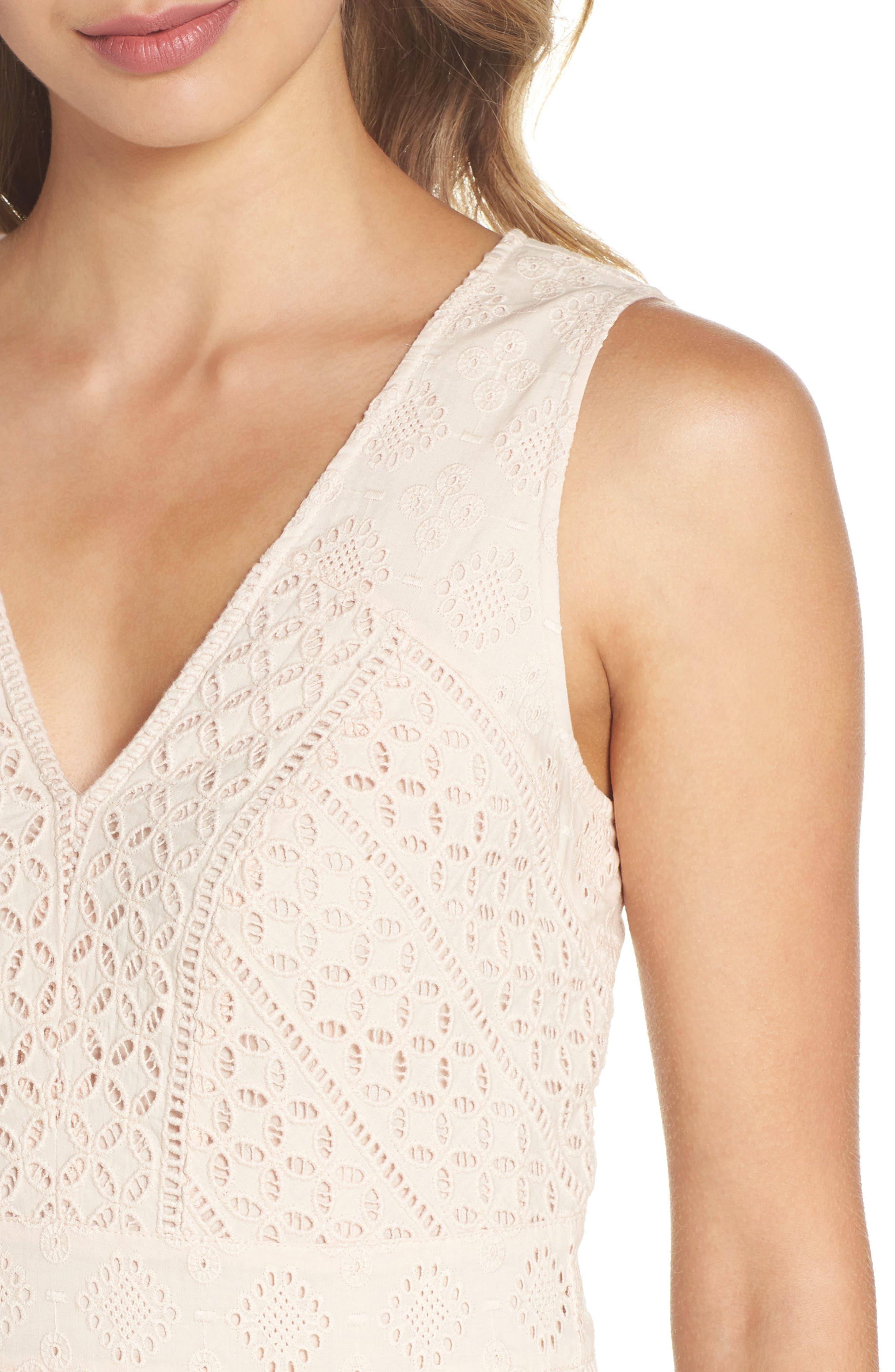 Schiffley Summer Cage Cotton Dress,                             Alternate thumbnail 4, color,                             687