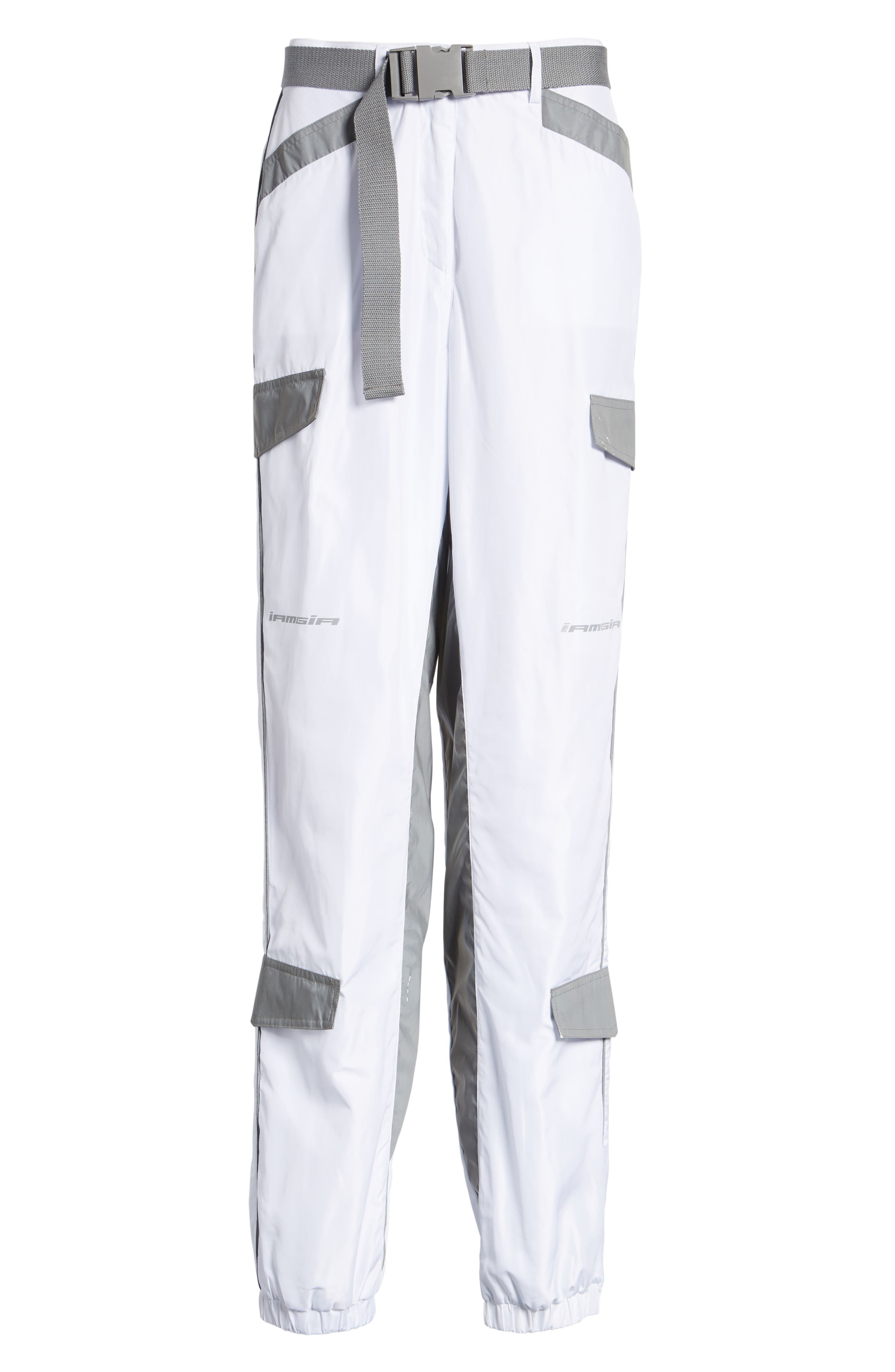 Halo Pants,                             Alternate thumbnail 7, color,                             WHITE
