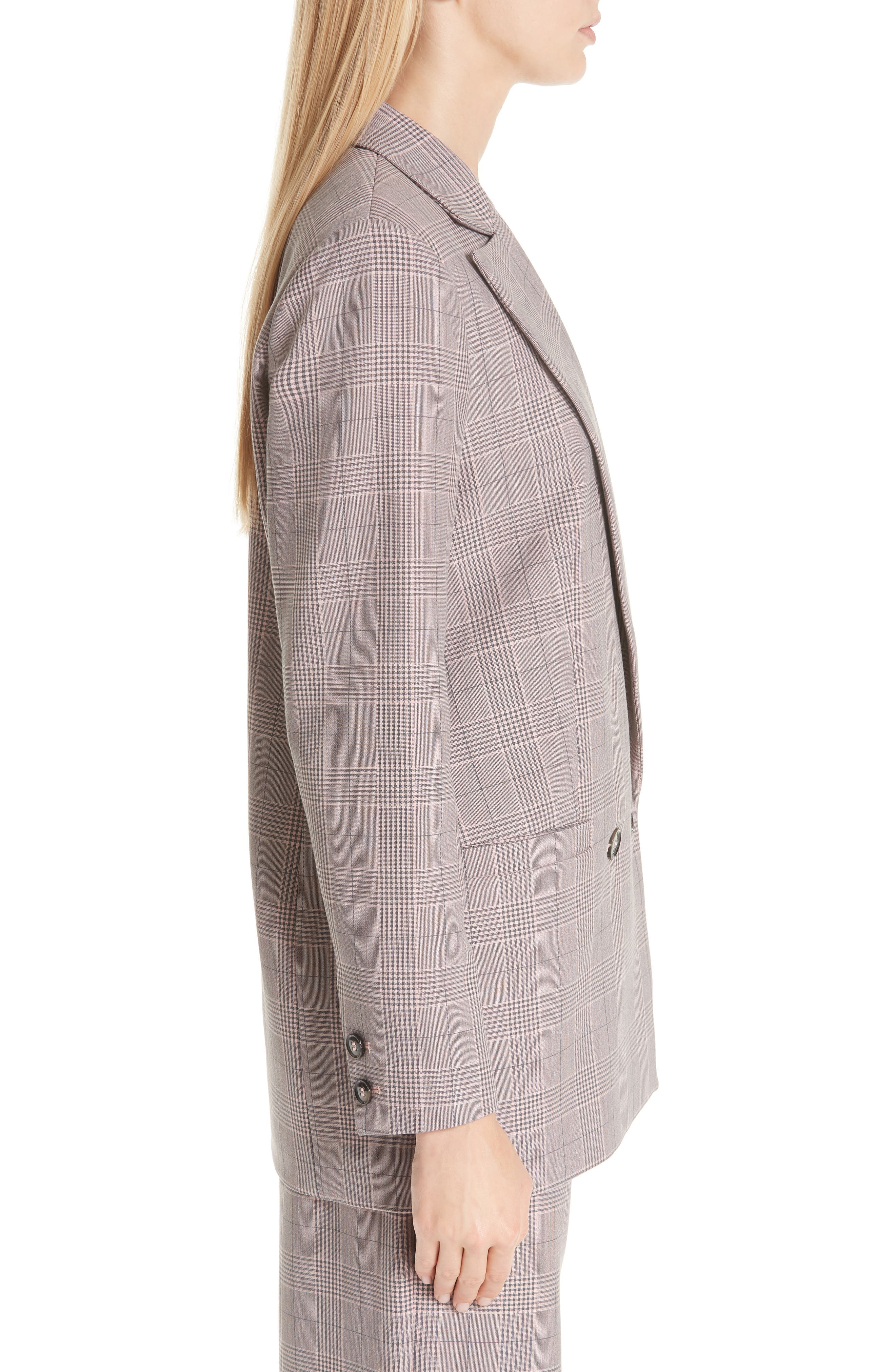 Suiting Blazer,                             Alternate thumbnail 3, color,                             SILVER PINK 499