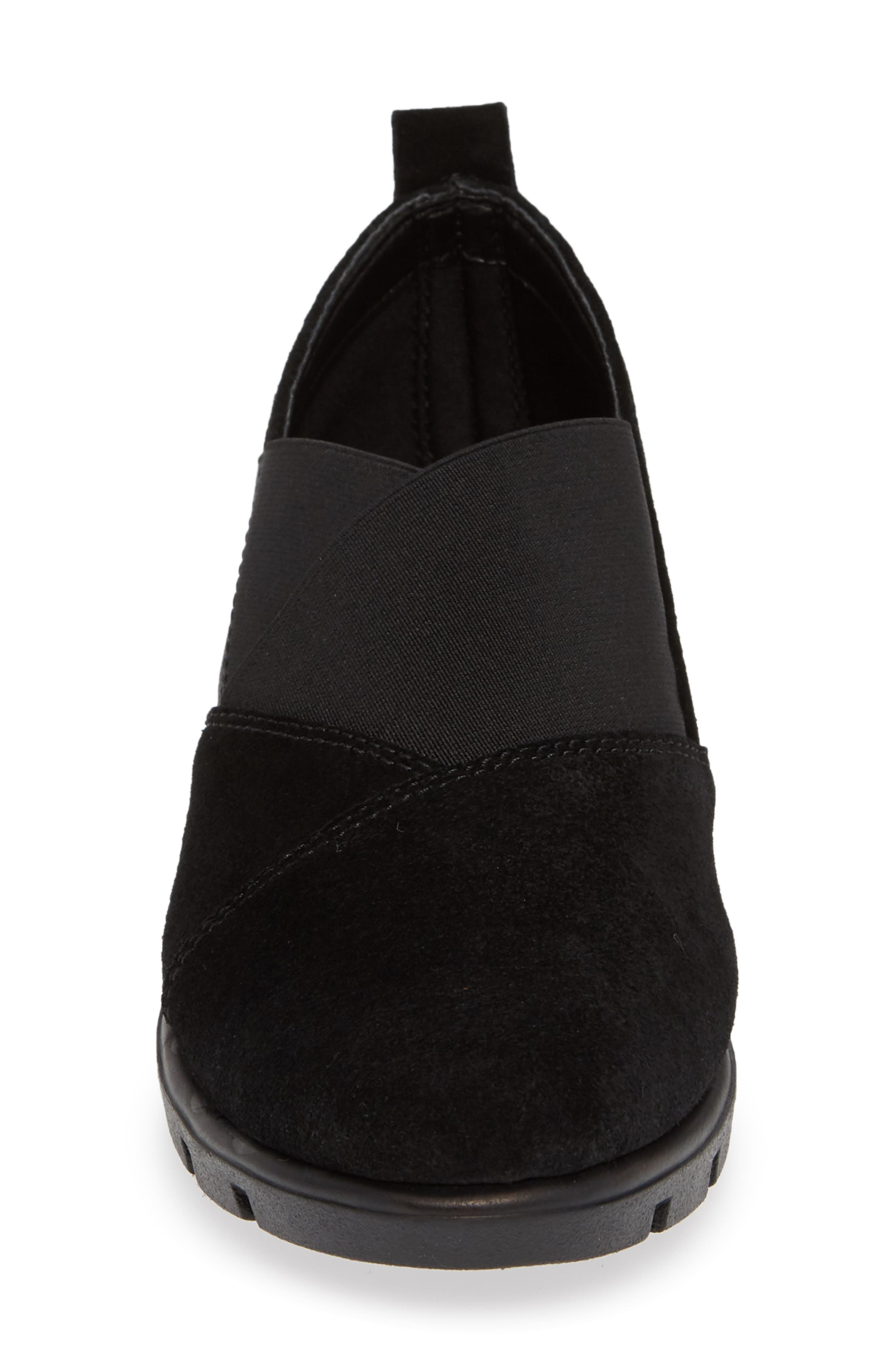 Crosstown Slip-On Shoe,                             Alternate thumbnail 4, color,                             BLACK SUEDE