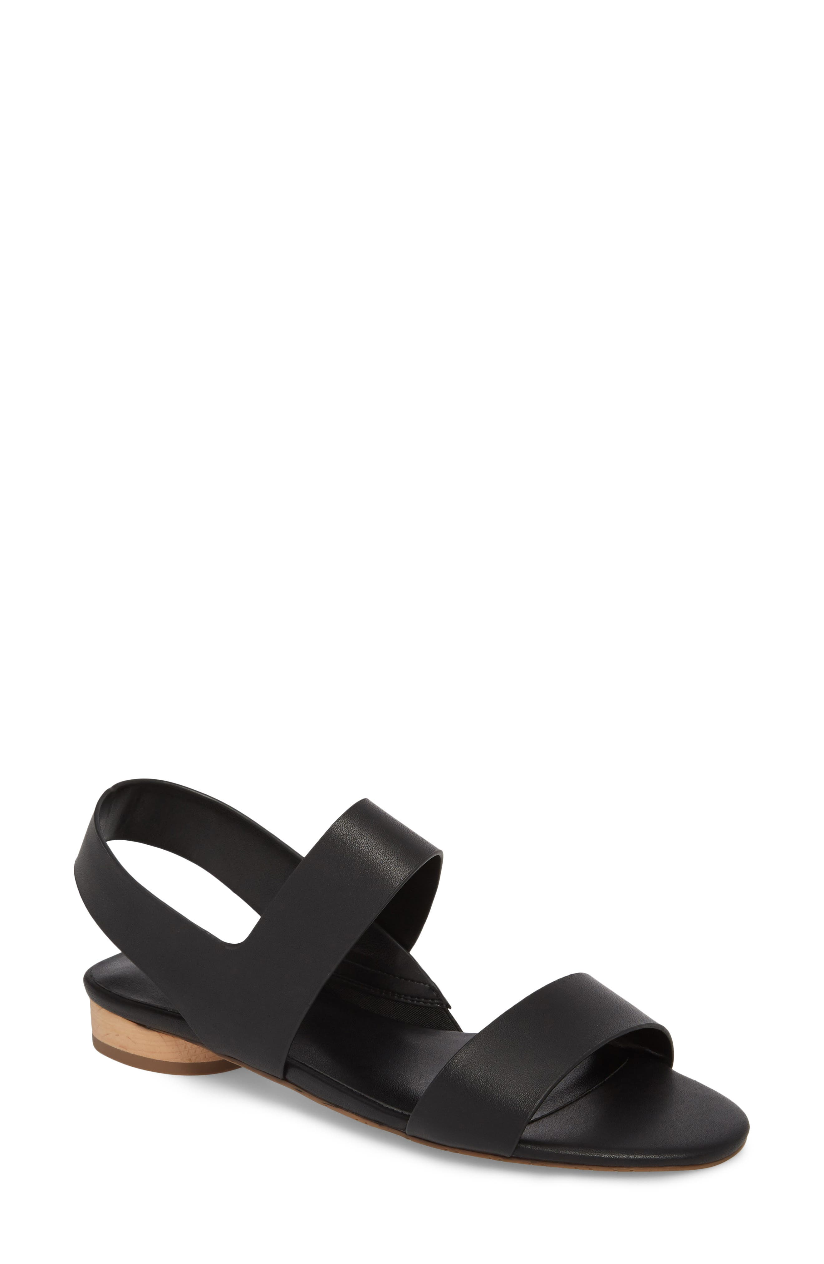 Blanka Sandal,                         Main,                         color, BLACK LEATHER