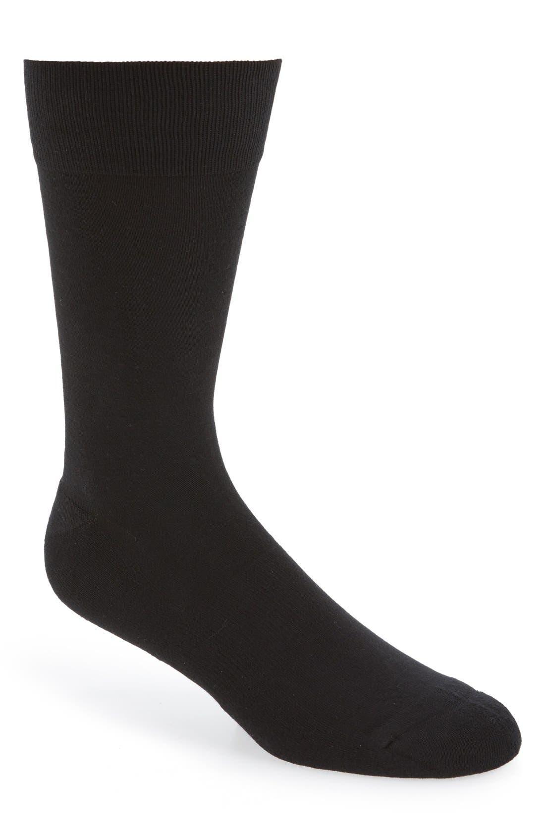 Cushion Foot Arch Support Socks,                             Main thumbnail 1, color,                             BLACK