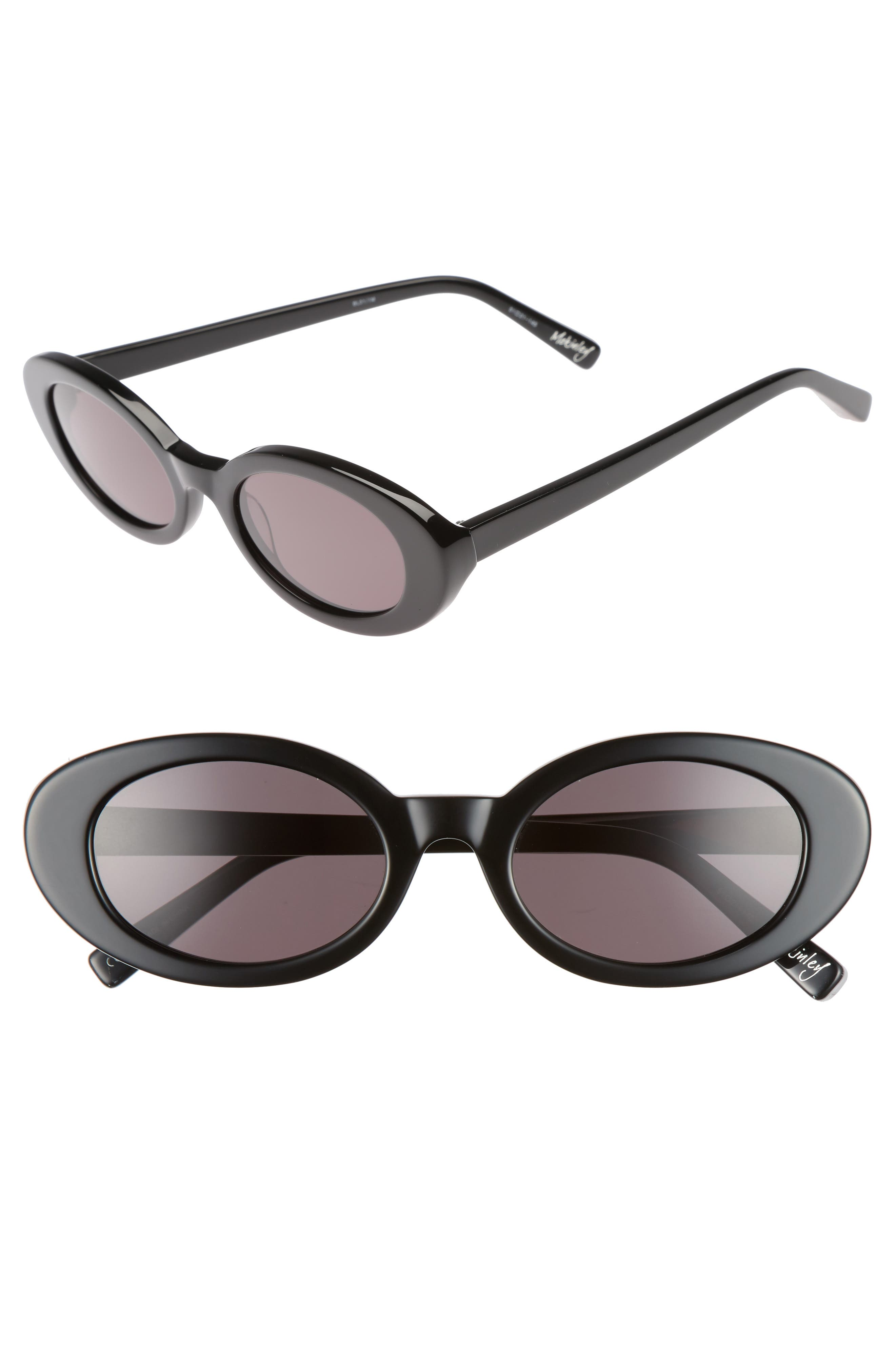 McKinely 51mm Oval Sunglasses,                             Main thumbnail 1, color,                             001
