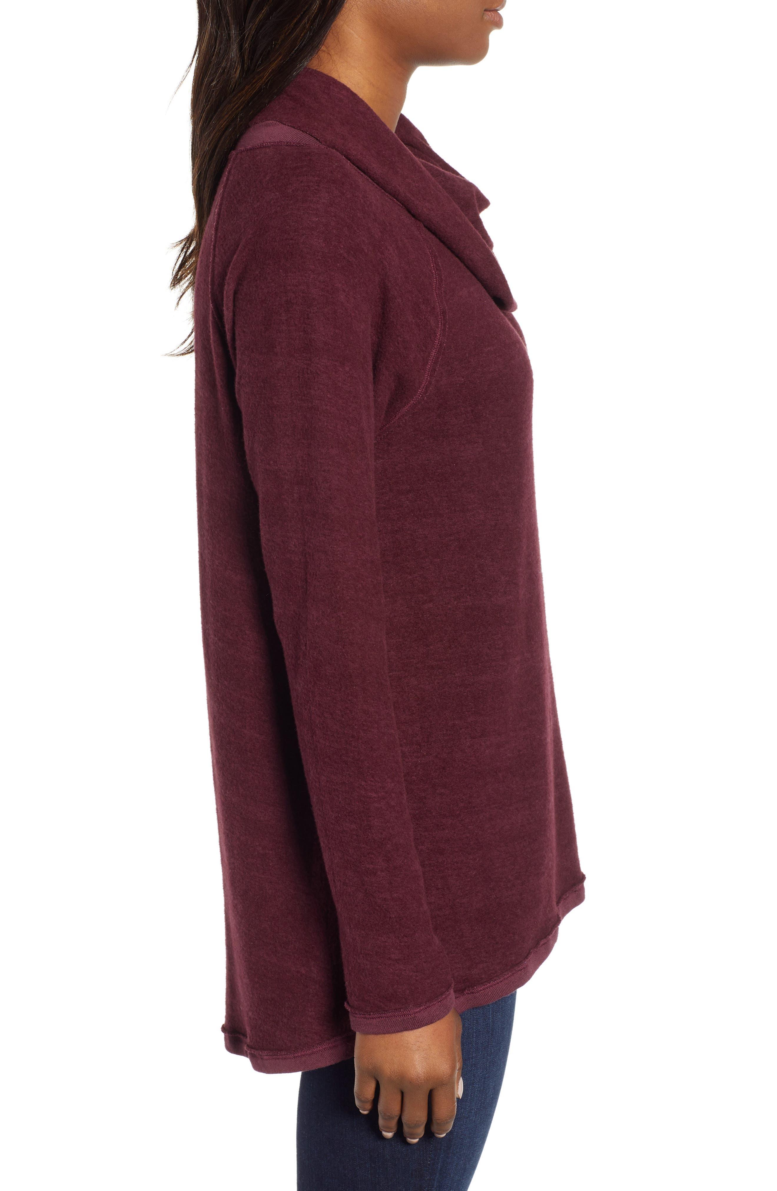 Knit Cowl Neck Tunic,                             Alternate thumbnail 3, color,                             930