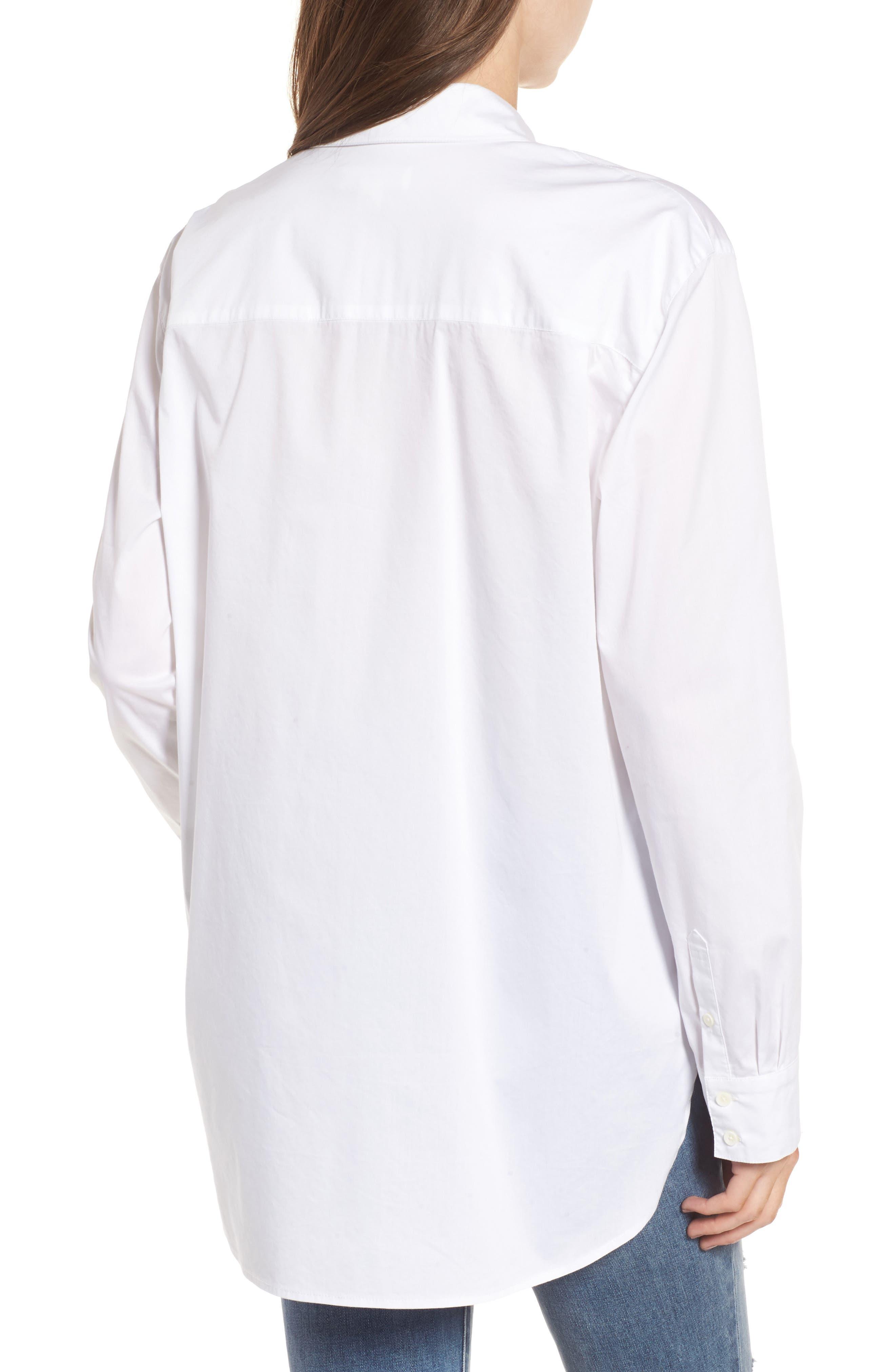 Oversize Shirt,                             Alternate thumbnail 2, color,                             100
