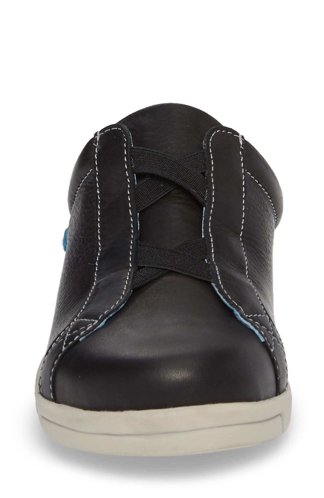 Arizona Sneaker,                             Alternate thumbnail 4, color,                             BLACK LEATHER