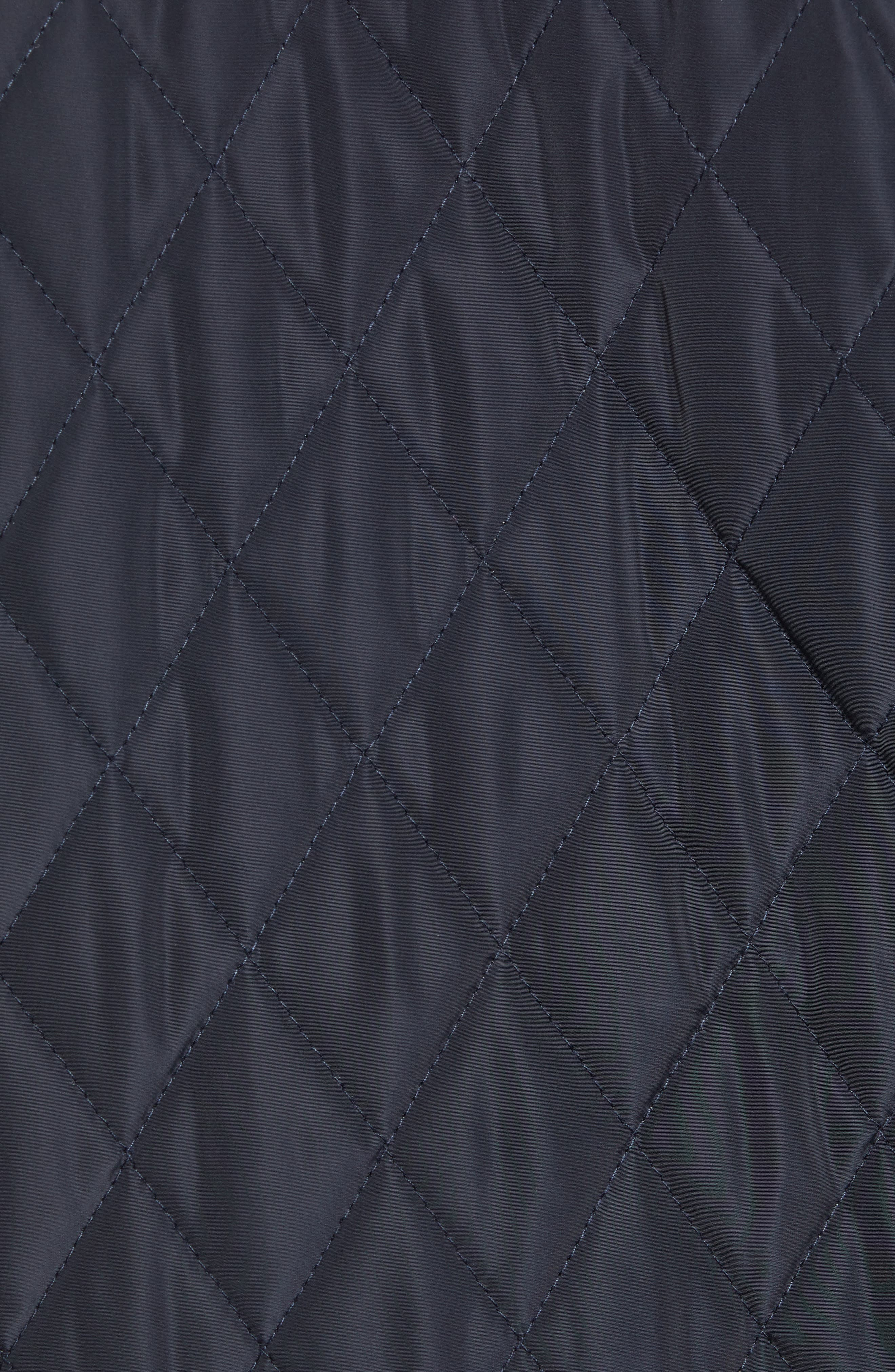 Quilted Shirt Jacket,                             Alternate thumbnail 6, color,                             NIGHT