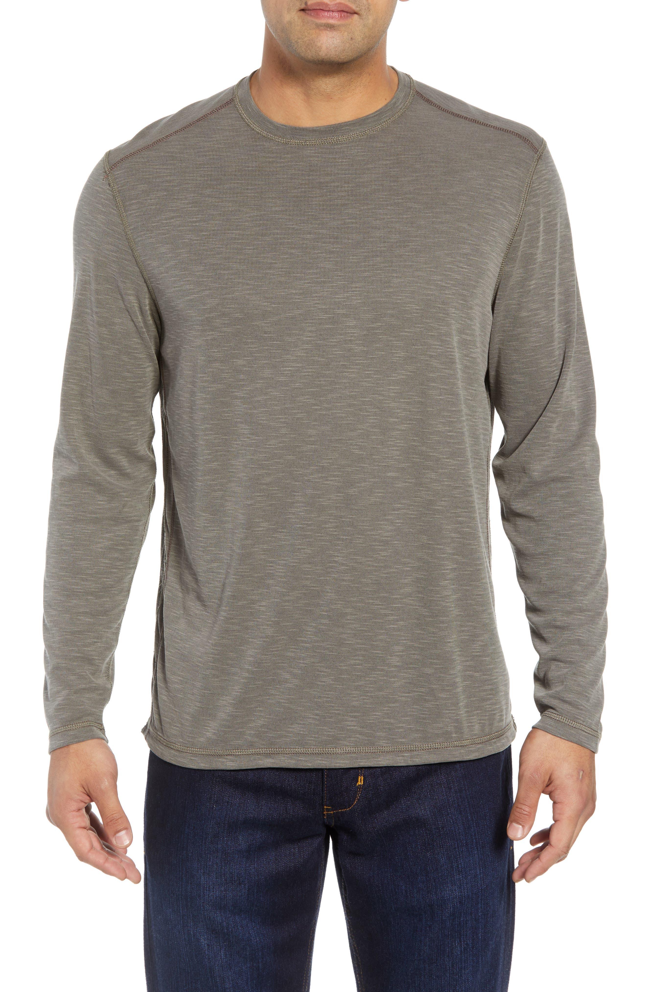 Flip Tide Standard Fit T-Shirt,                             Main thumbnail 1, color,                             BITTERSWEET CHOCOLATE