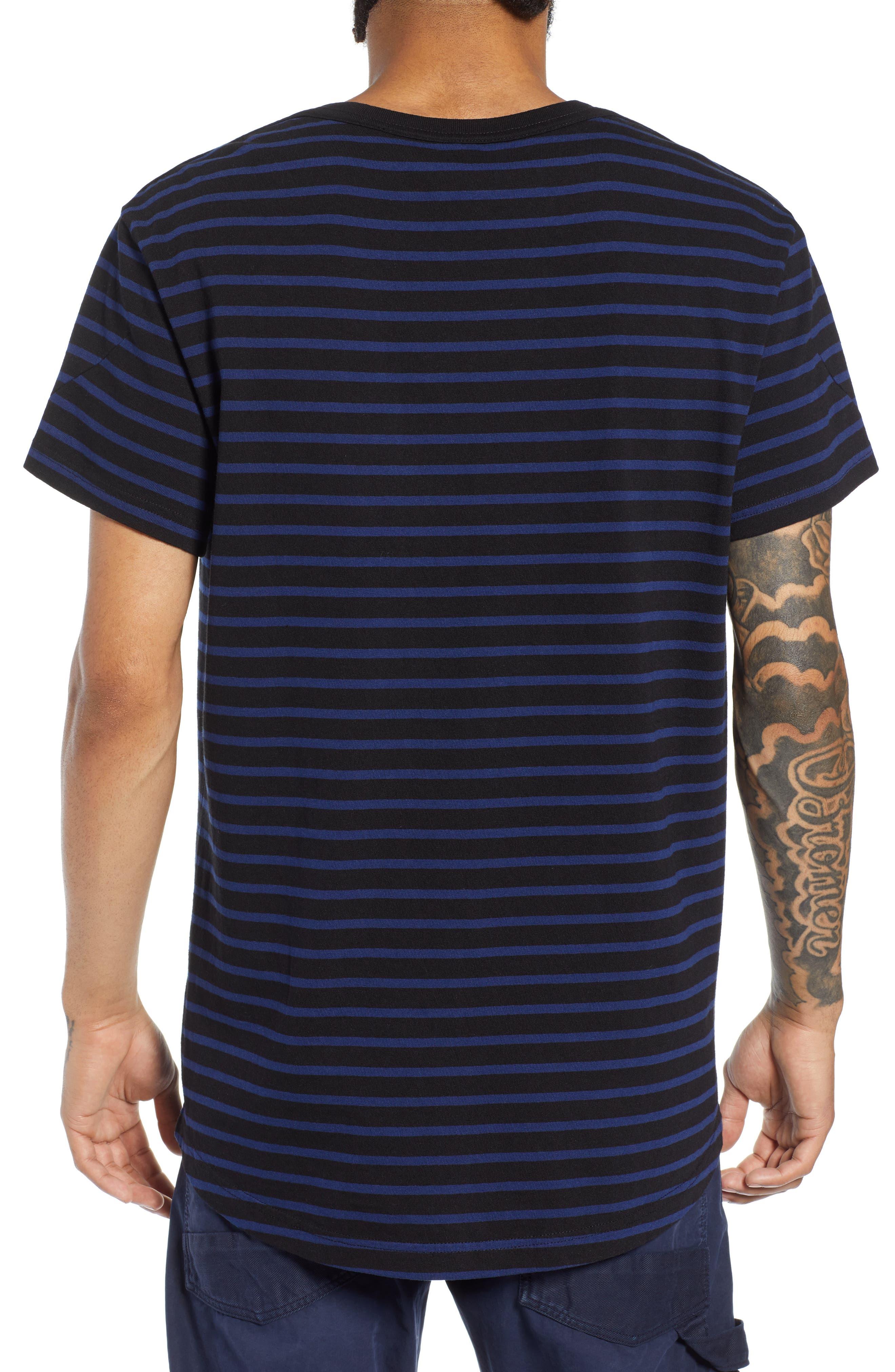 Starkon Stripe T-Shirt,                             Alternate thumbnail 2, color,                             DARK BLACK/ IMPERIAL BLUE