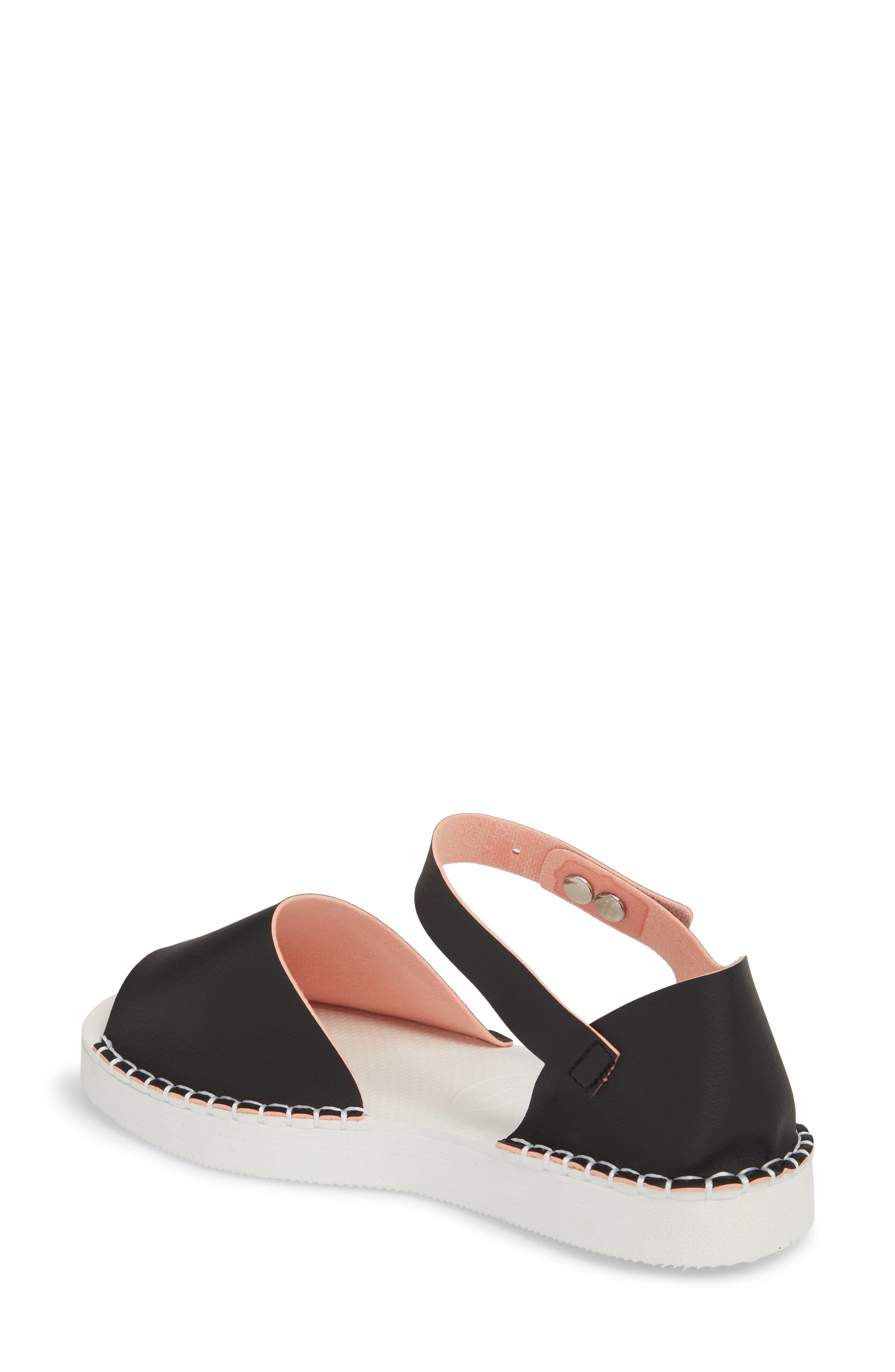 Flatform Fashion Sandal,                             Alternate thumbnail 2, color,                             BLACK/ PINK