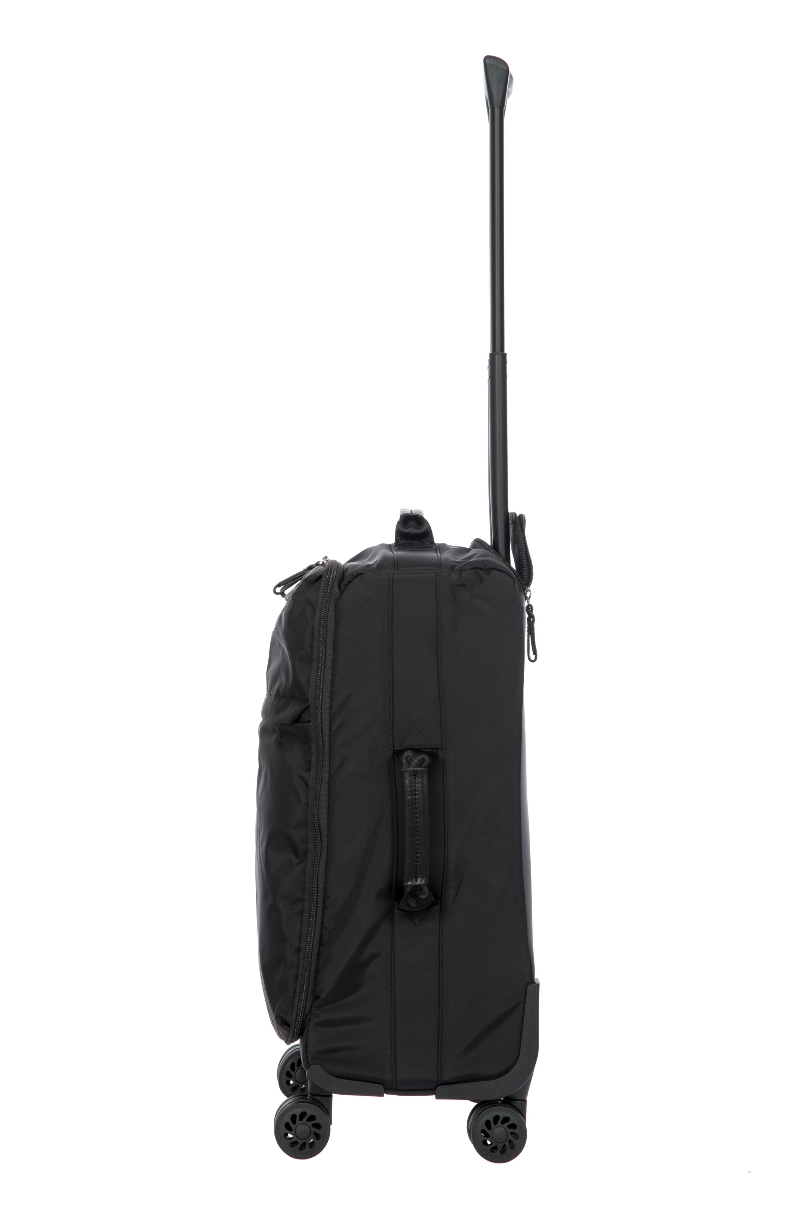 X-Bag 21-Inch Spinner Carry-On,                             Alternate thumbnail 3, color,                             BLACK/ BLACK