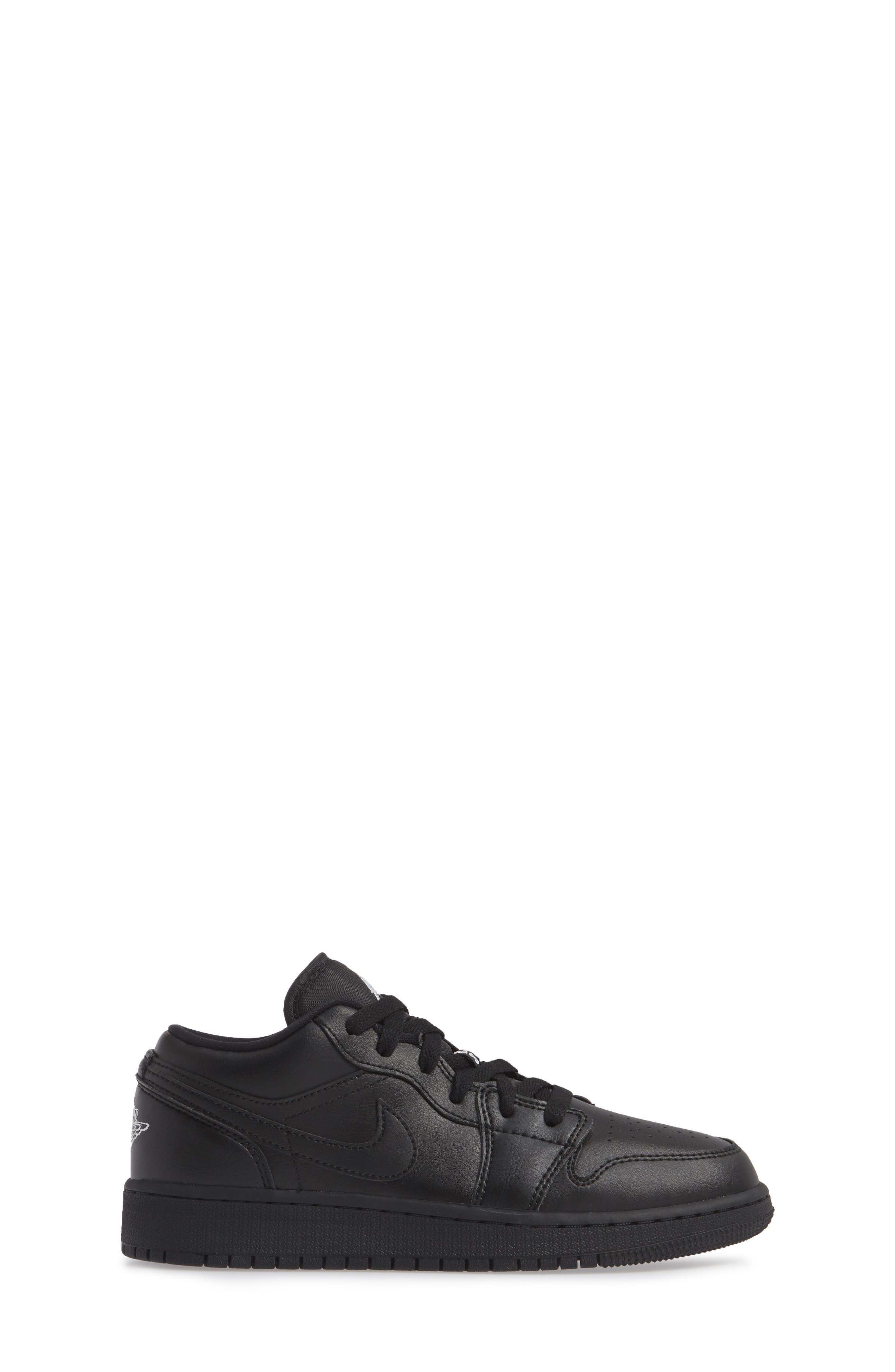 Nike 'Air Jordan 1 Low' Sneaker,                             Alternate thumbnail 3, color,                             BLACK/ WHITE/ BLACK
