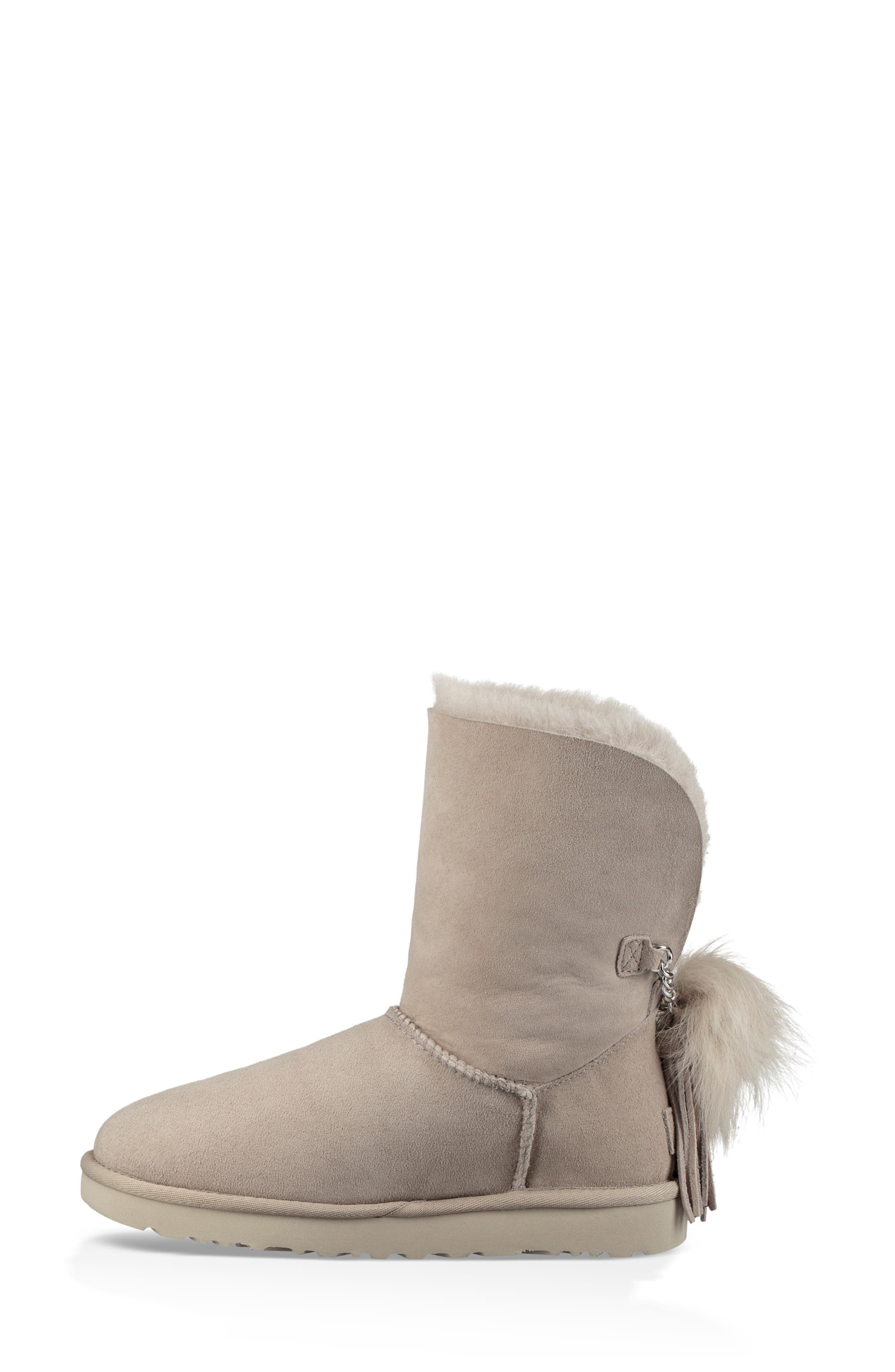 Classic Charm Bootie,                             Alternate thumbnail 6, color,                             WILLOW SUEDE