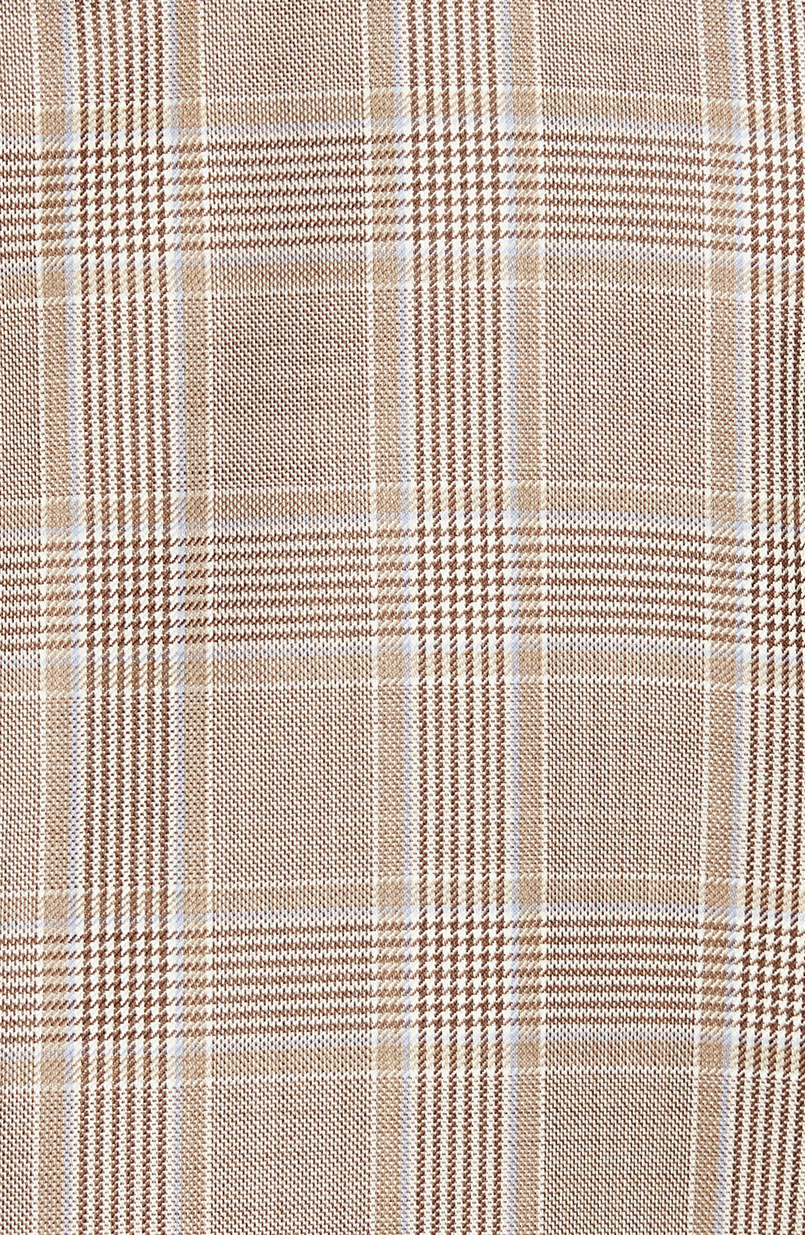 Classic B Fit Plaid Wool Sport Coat,                             Alternate thumbnail 6, color,                             271
