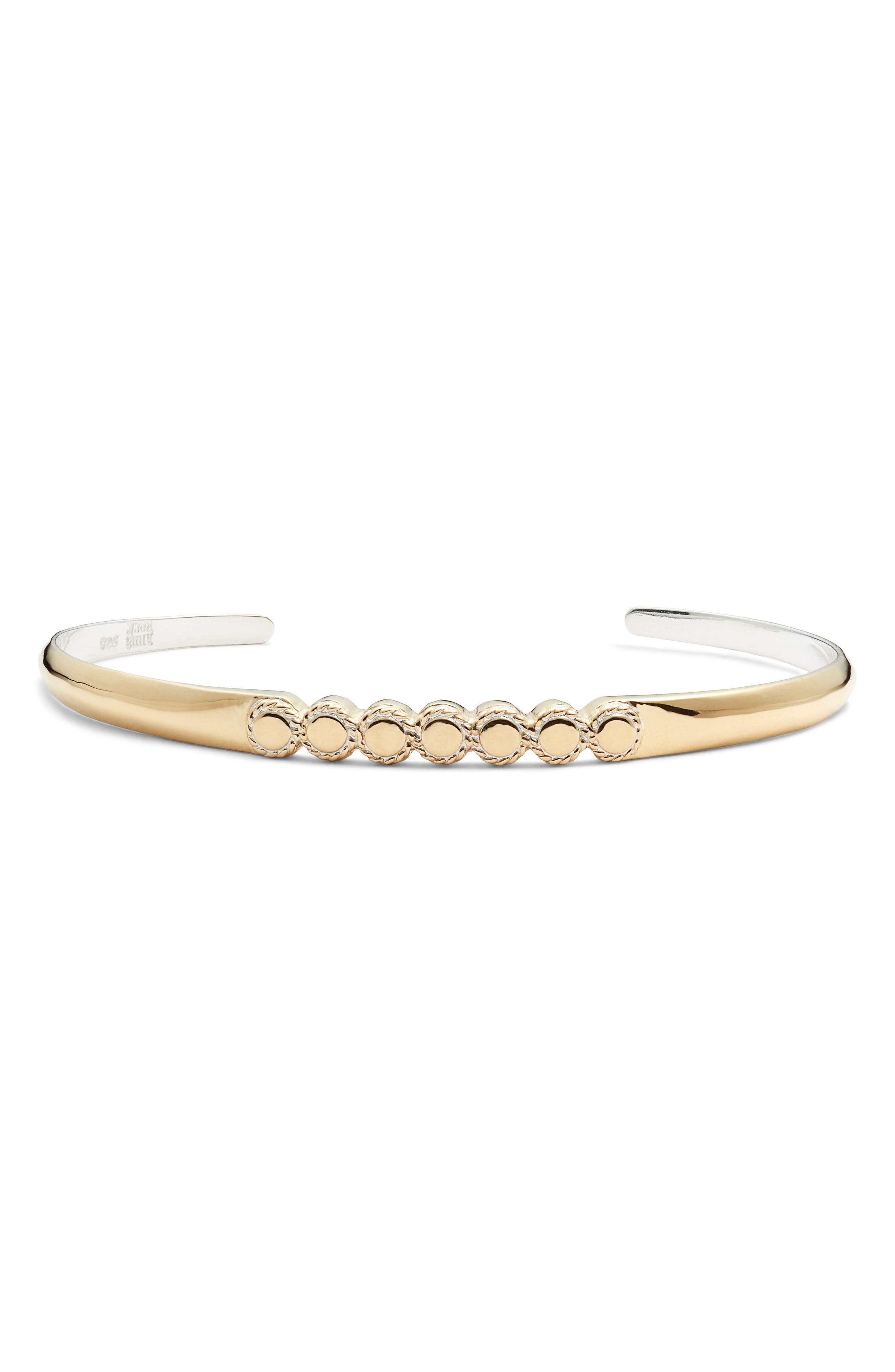 ANNA BECK Smooth Circle Skinny Cuff in Gold