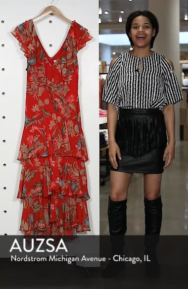 Chelsea Tiered Ruffle Maxi Dress, sales video thumbnail