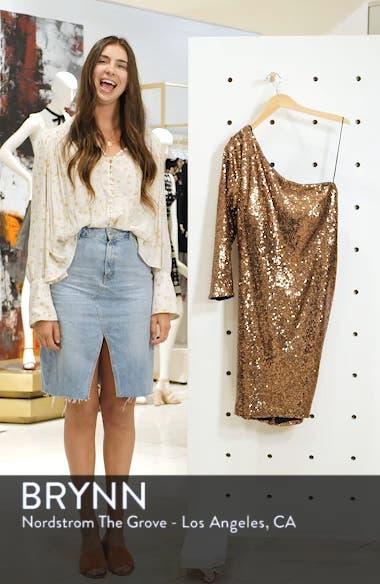 One Shoulder Sequin Party Dress, sales video thumbnail