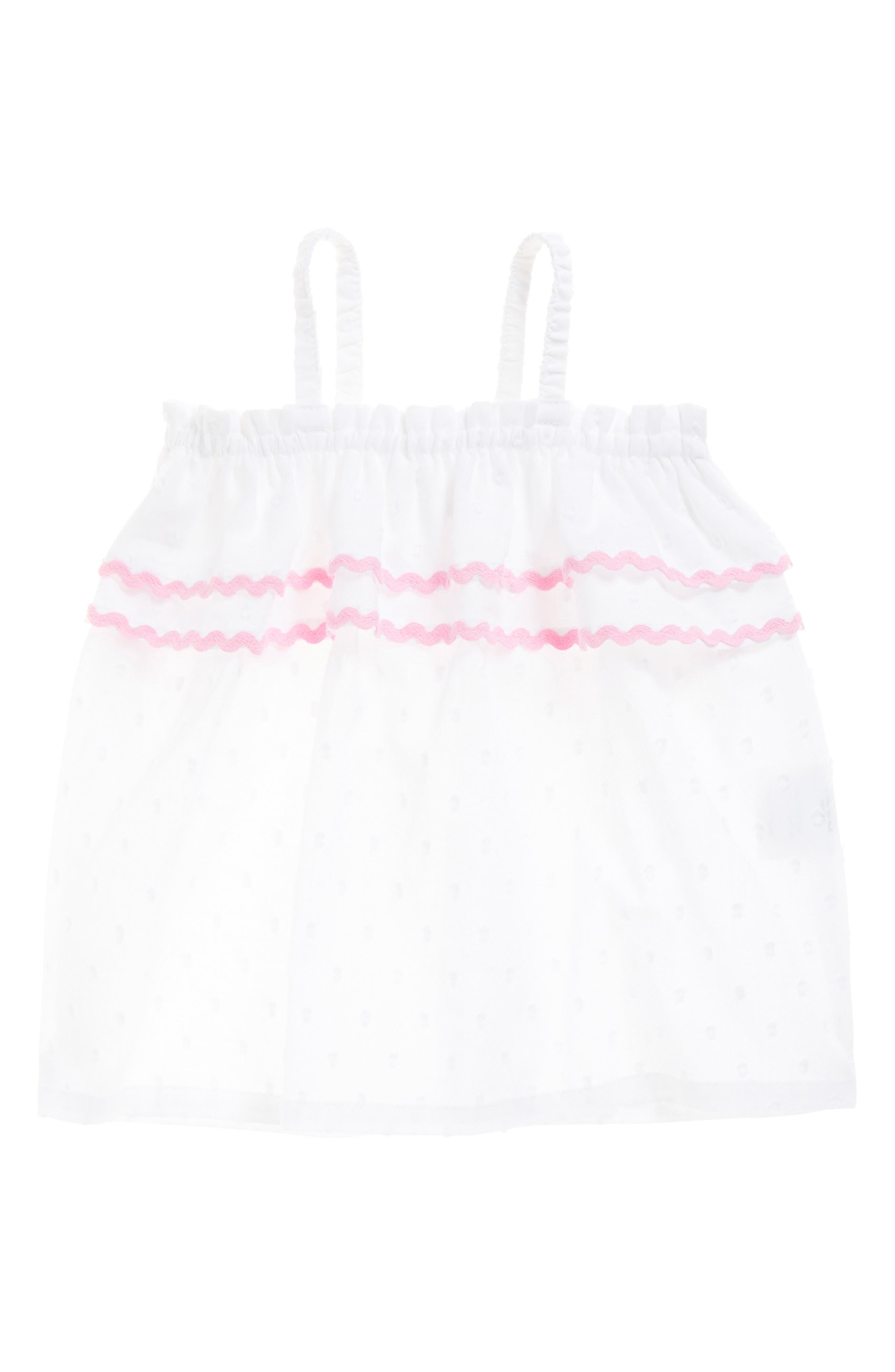 Infant Girls Seed Heritage Rickrack Trim Top Size 1218M  White