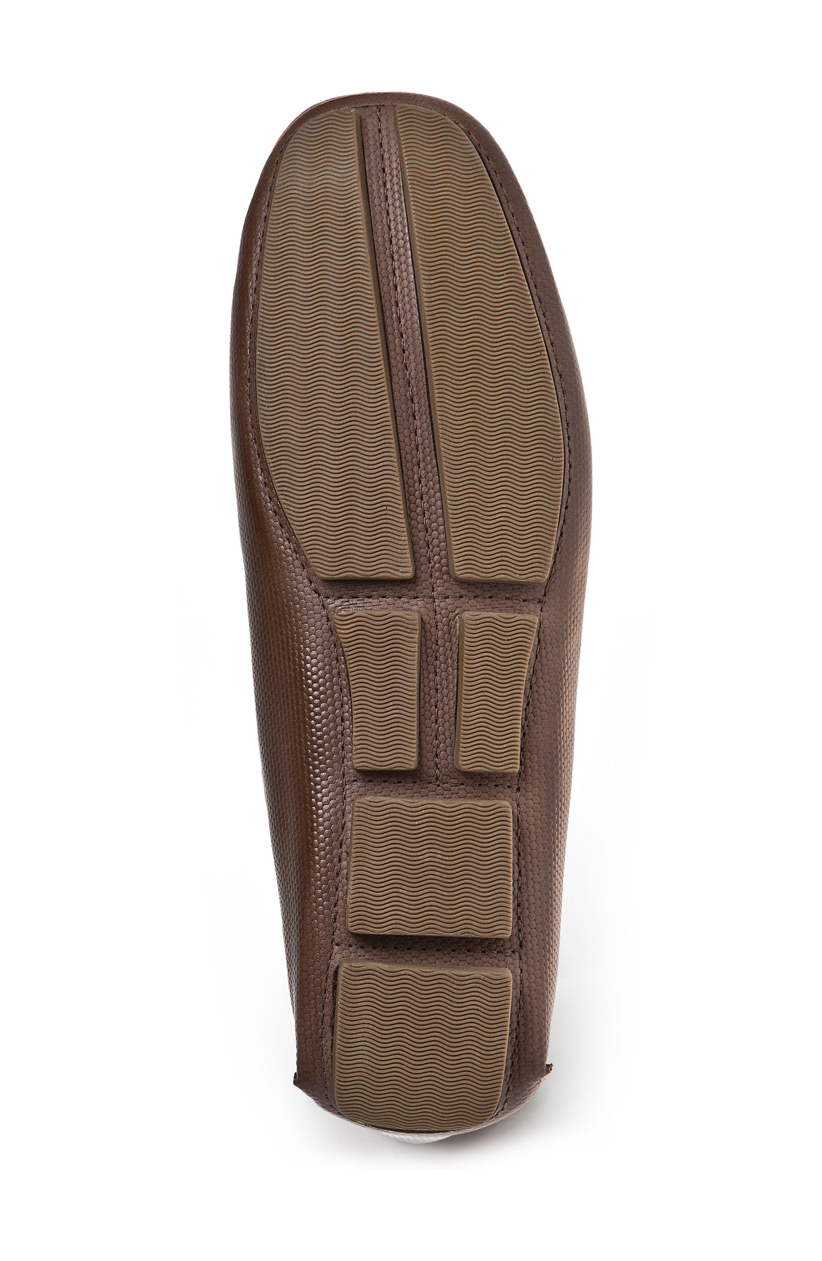 Neil Embossed Loafer,                             Alternate thumbnail 4, color,                             BROWN LEATHER