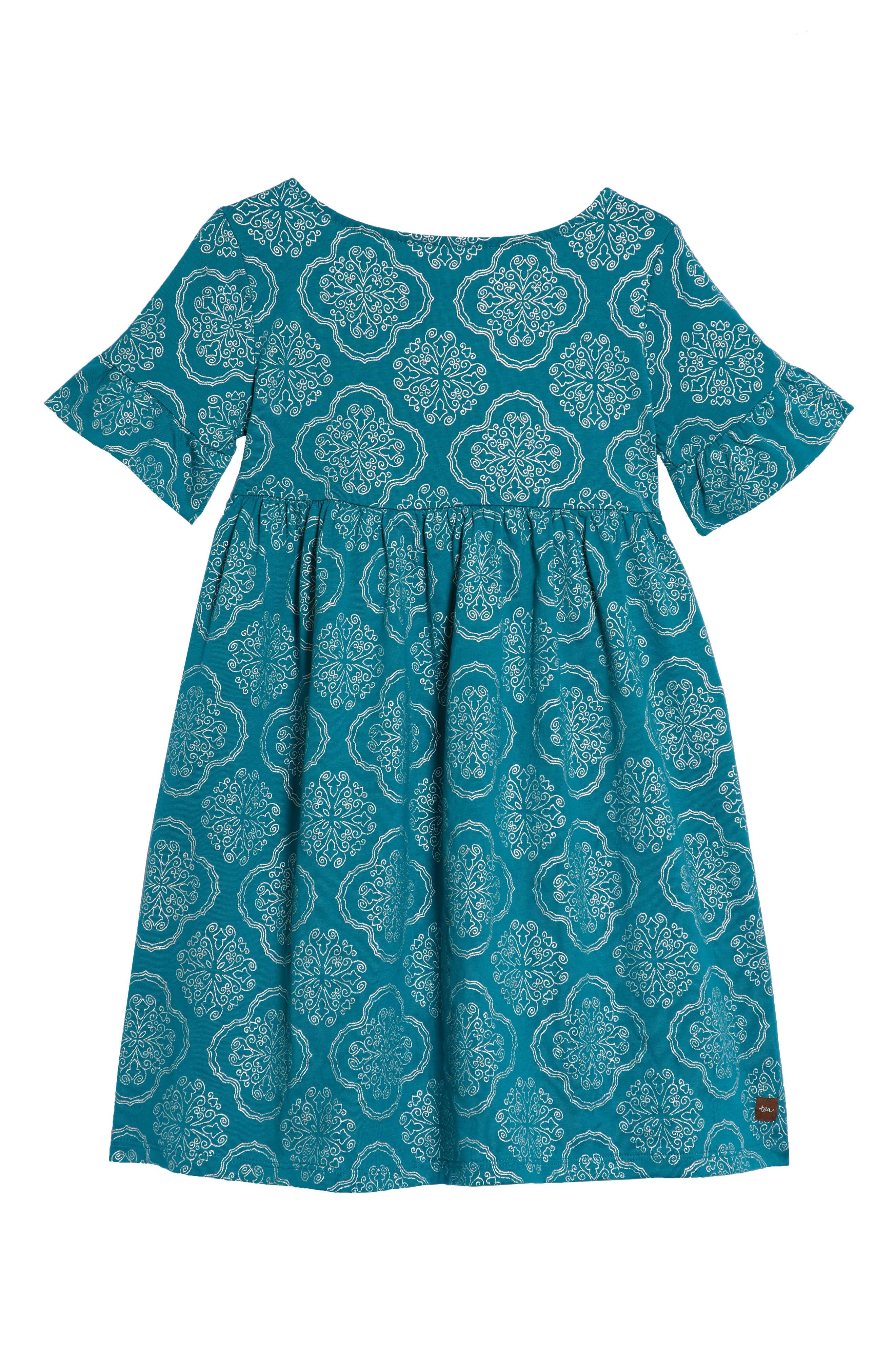 Ruffle Sleeve Dress,                             Alternate thumbnail 2, color,