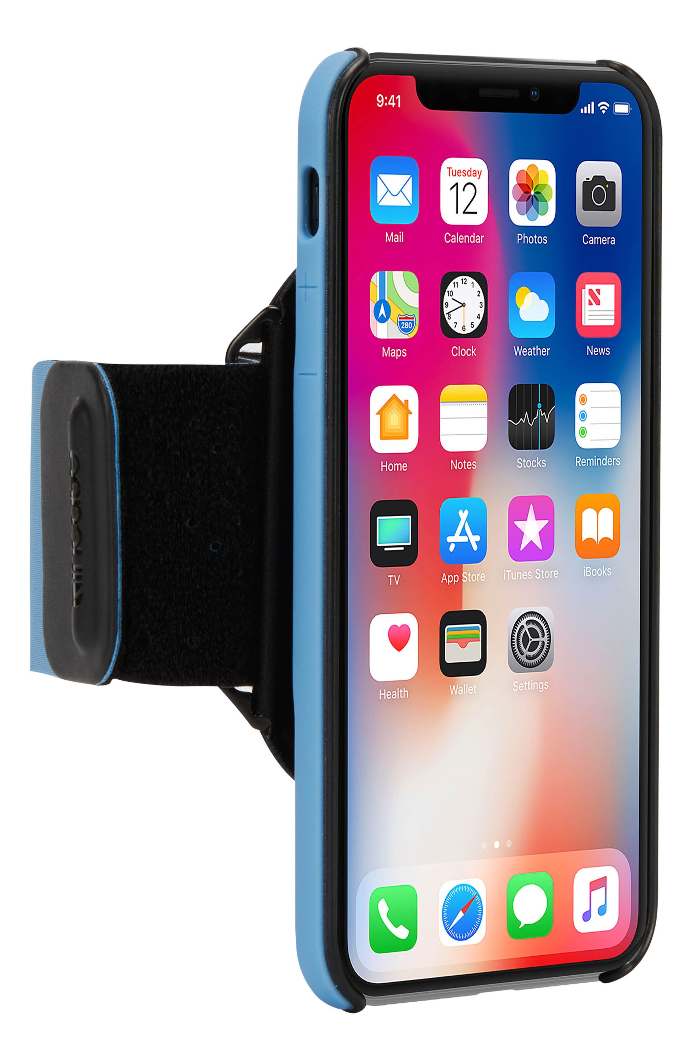 Pro iPhone X Armband,                             Alternate thumbnail 3, color,                             POWDER BLUE