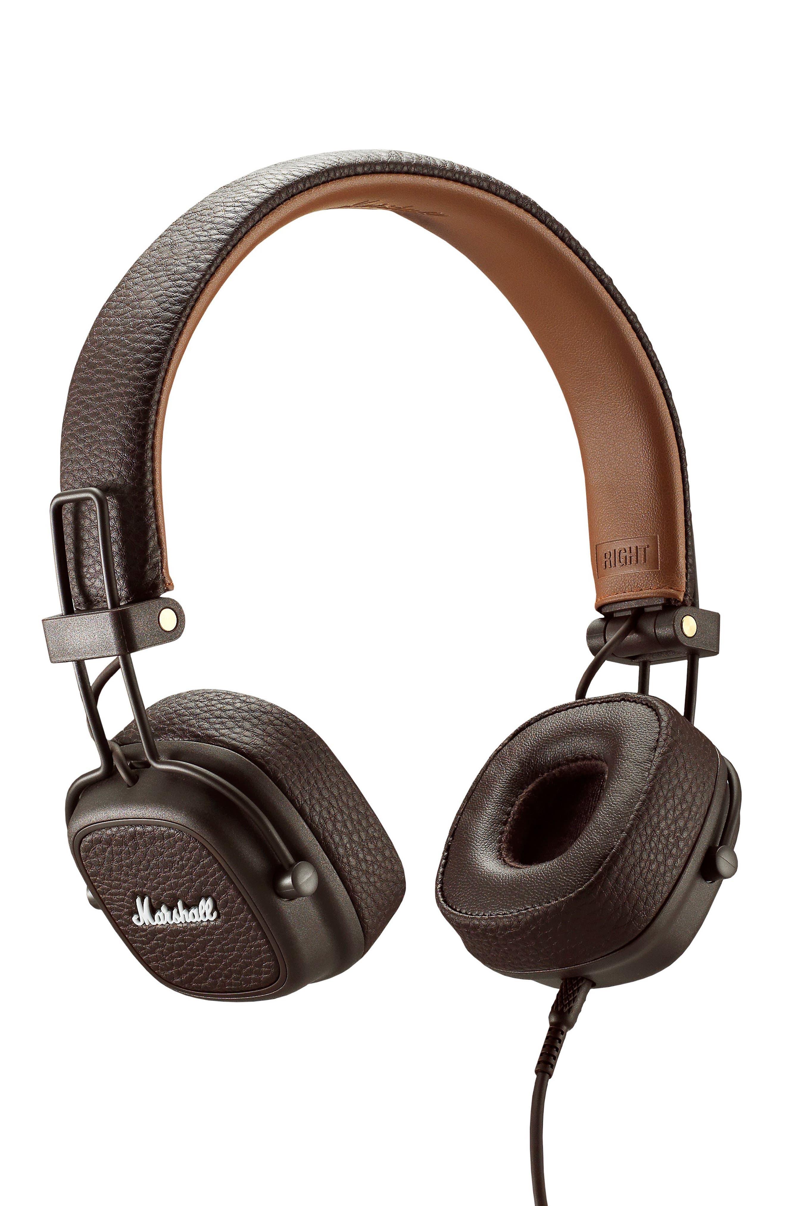 Major III Wired Headphones,                         Main,                         color, BROWN