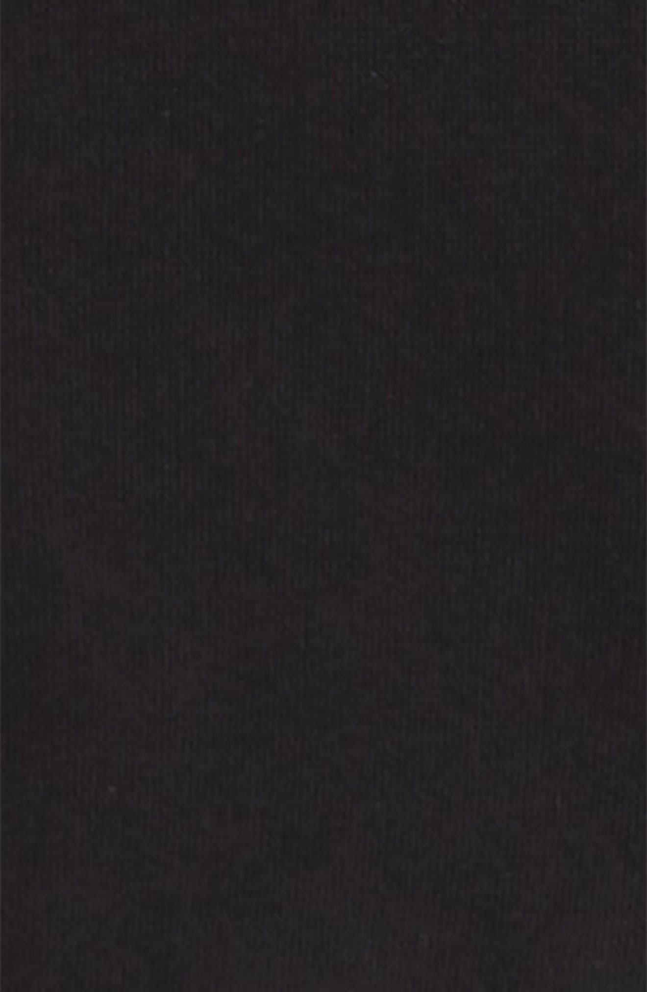 Side Stripe Terry Hoodie,                             Alternate thumbnail 2, color,                             BLACK