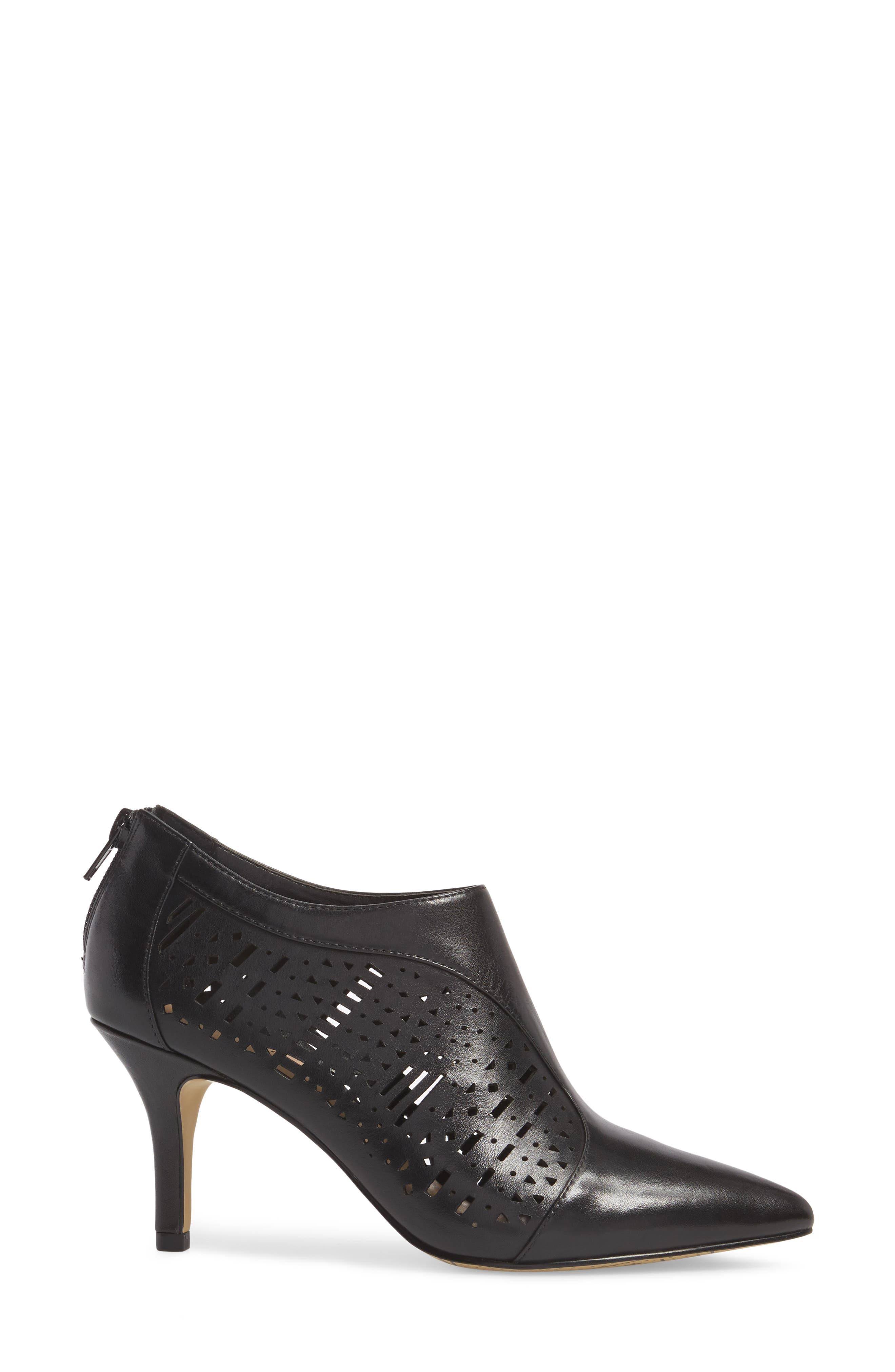 Darlene Laser Perforated Bootie,                             Alternate thumbnail 3, color,                             001