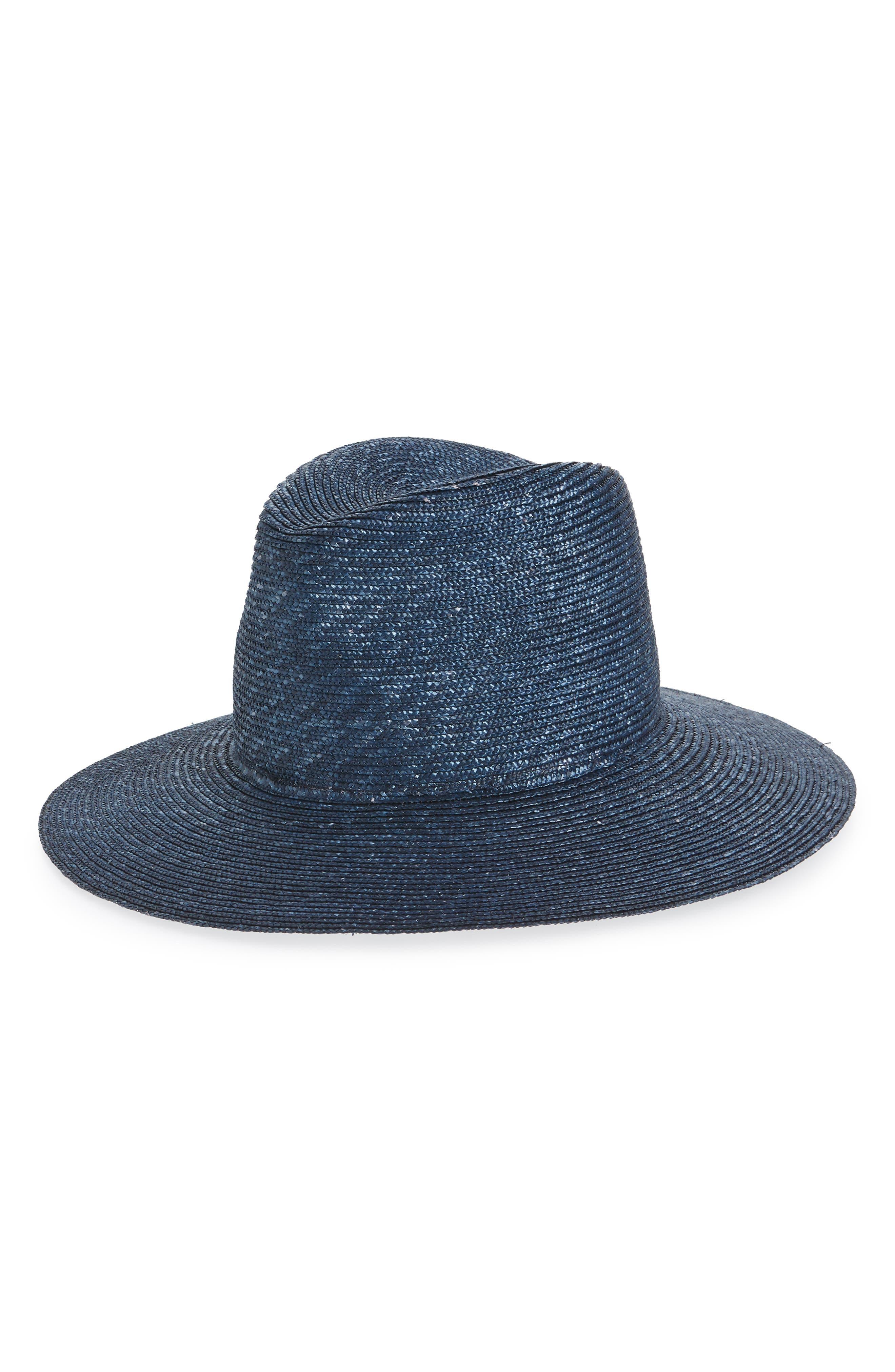 Plain Main Straw Hat,                             Main thumbnail 1, color,                             BLUE