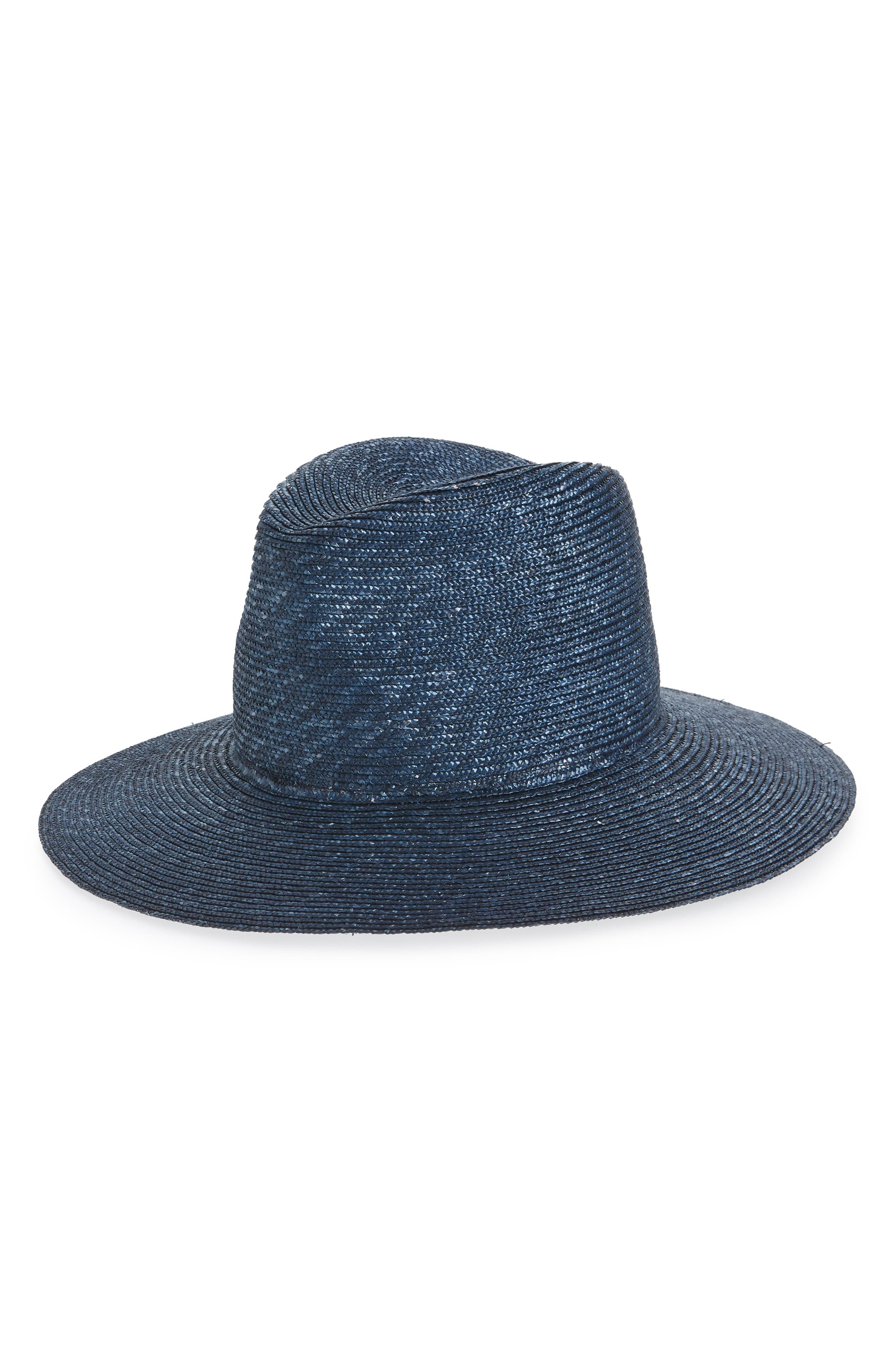 Plain Main Straw Hat,                         Main,                         color, BLUE