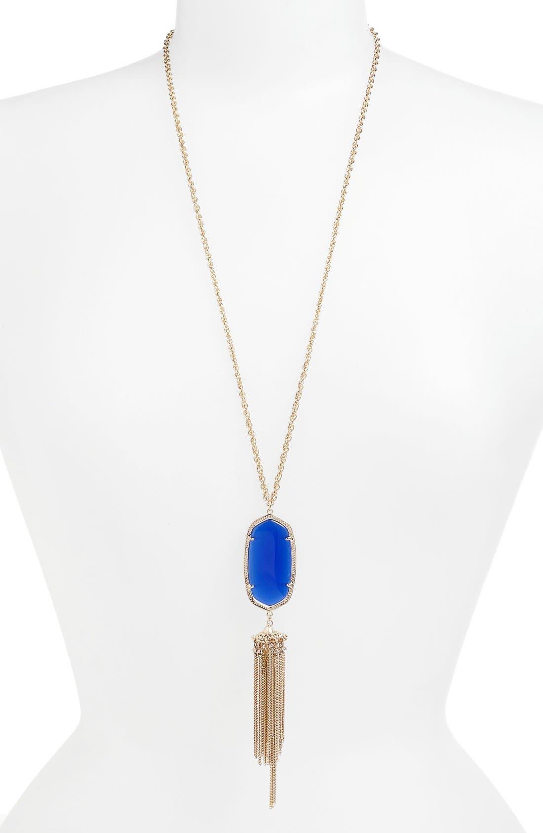 Rayne Stone Tassel Pendant Necklace,                             Main thumbnail 10, color,