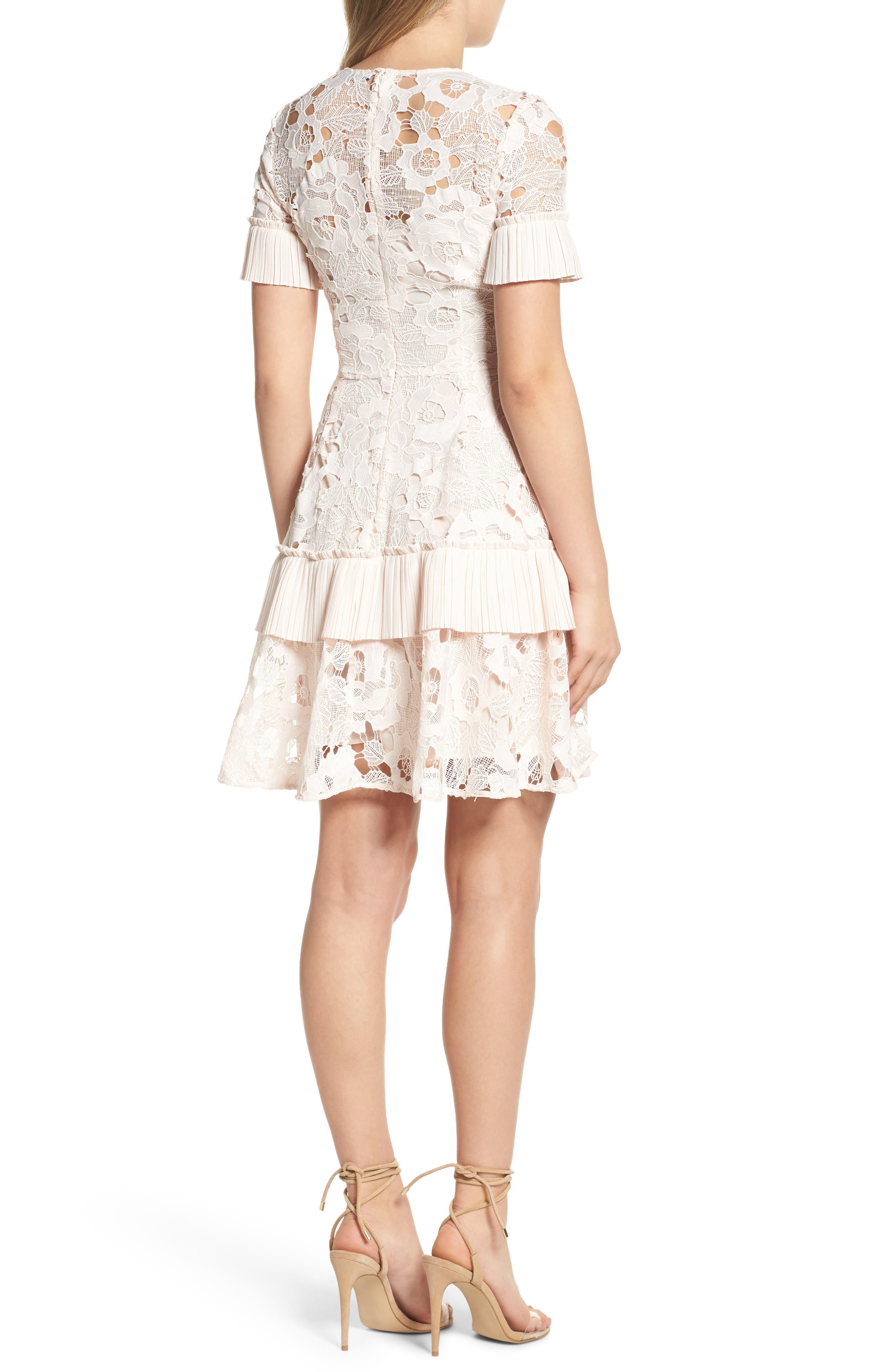 Enchantment Lace Fit & Flare Dress,                             Alternate thumbnail 2, color,                             650