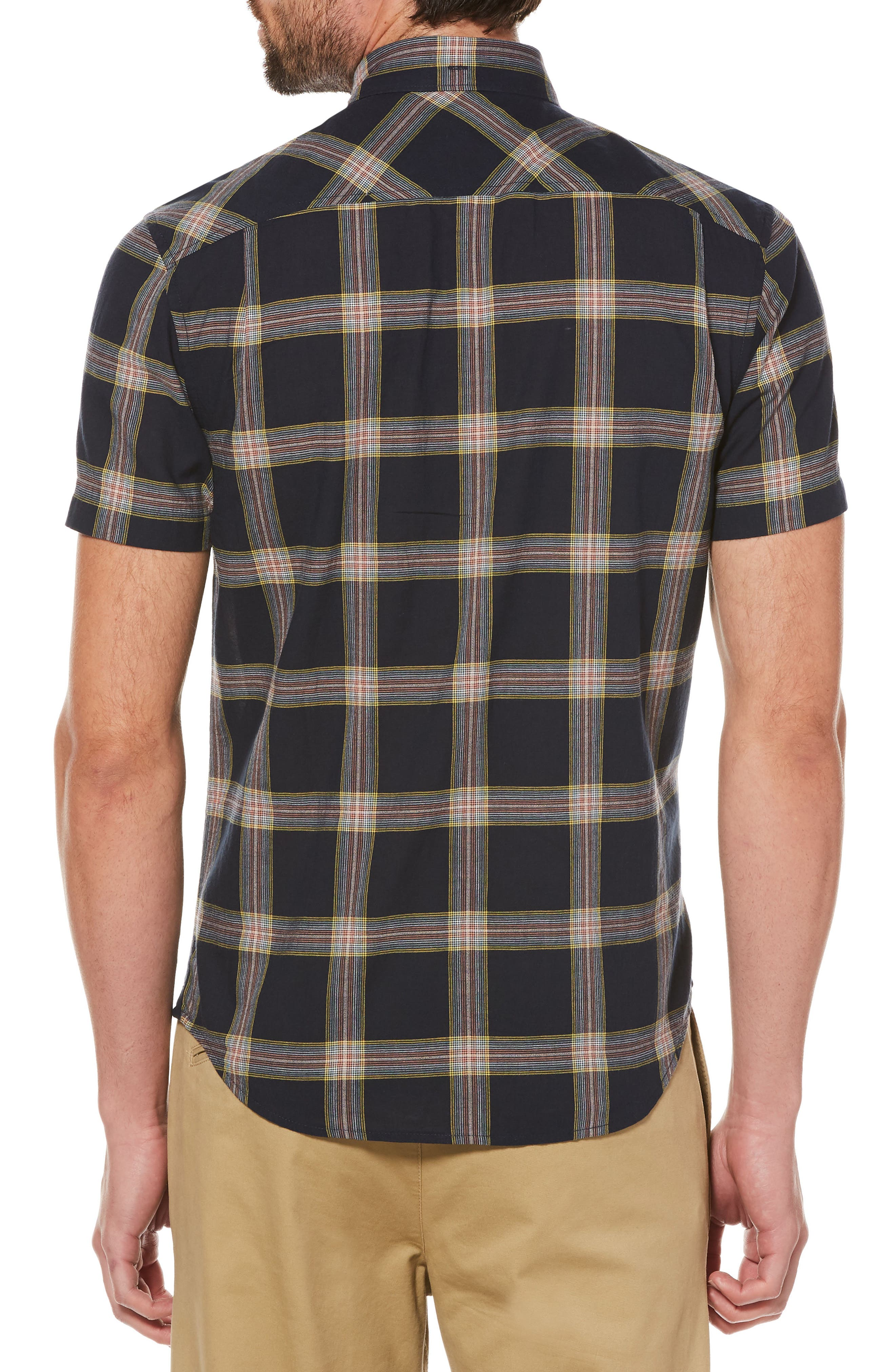 Textured Lawn Plaid Shirt,                             Alternate thumbnail 2, color,