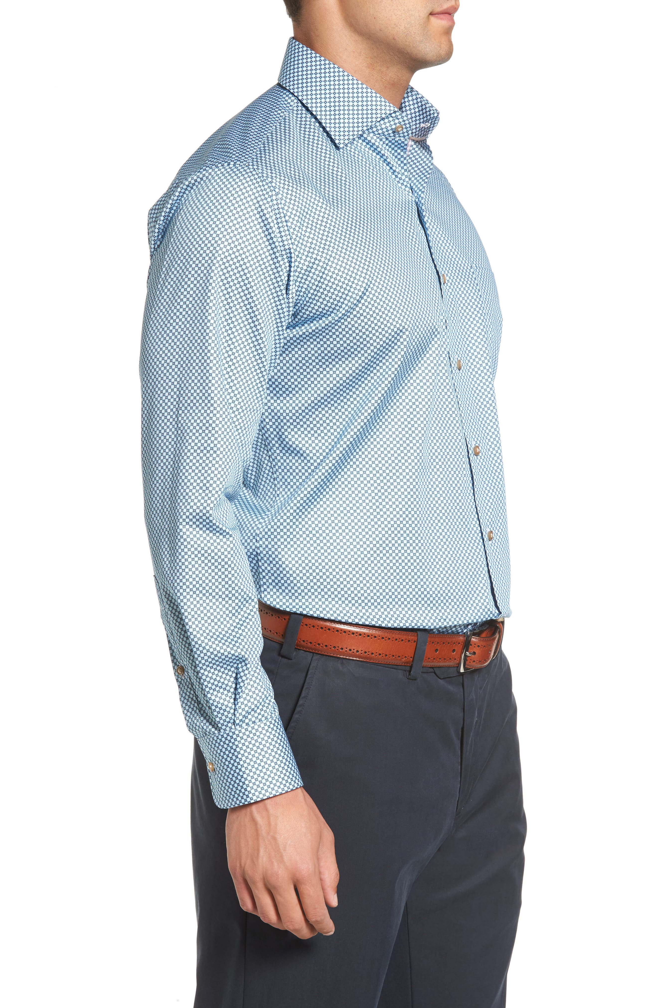 Pandora's Box Regular Fit Sport Shirt,                             Alternate thumbnail 3, color,                             437