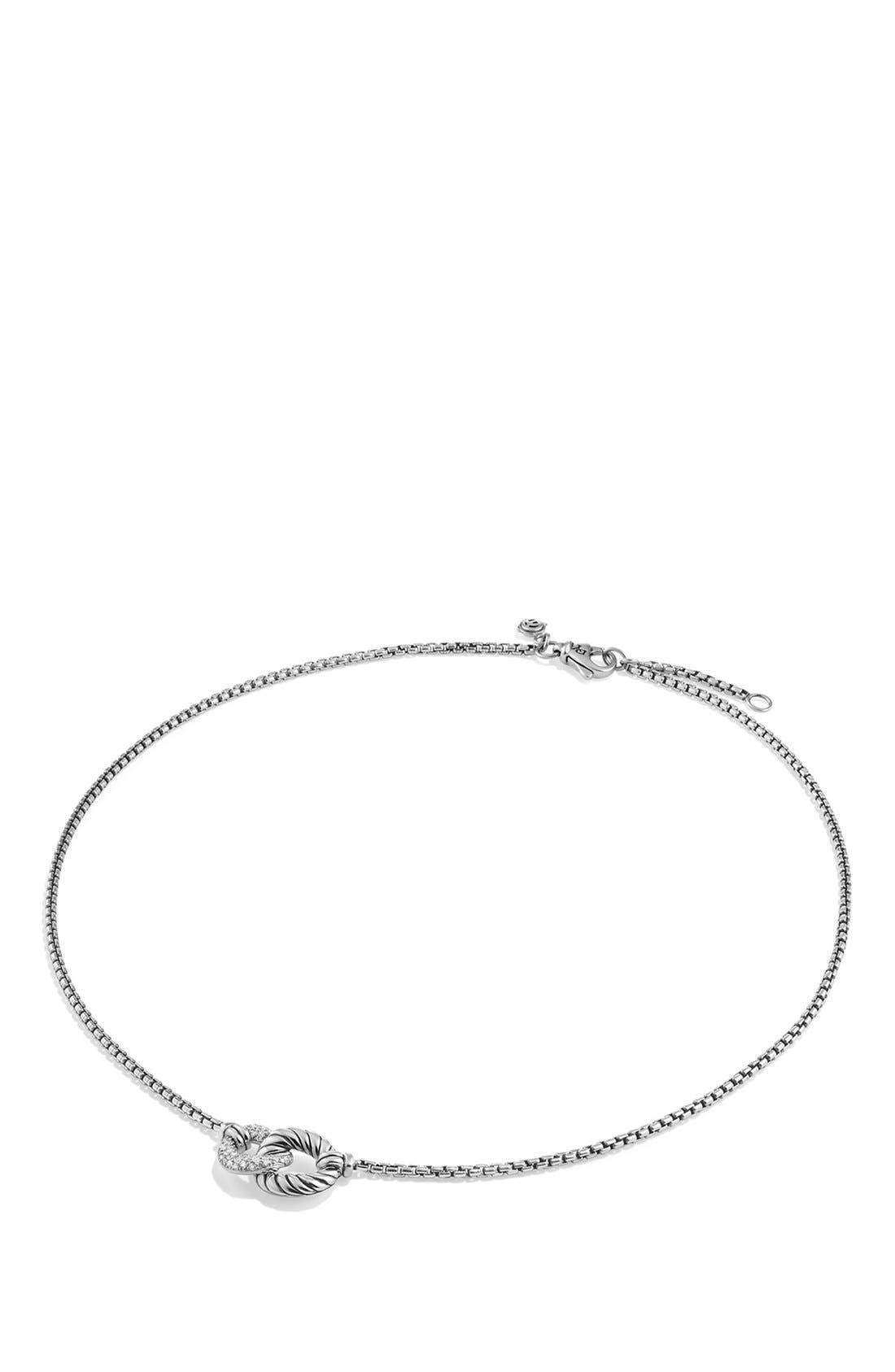 'Belmont' Necklace with Diamonds,                             Alternate thumbnail 4, color,                             DIAMOND