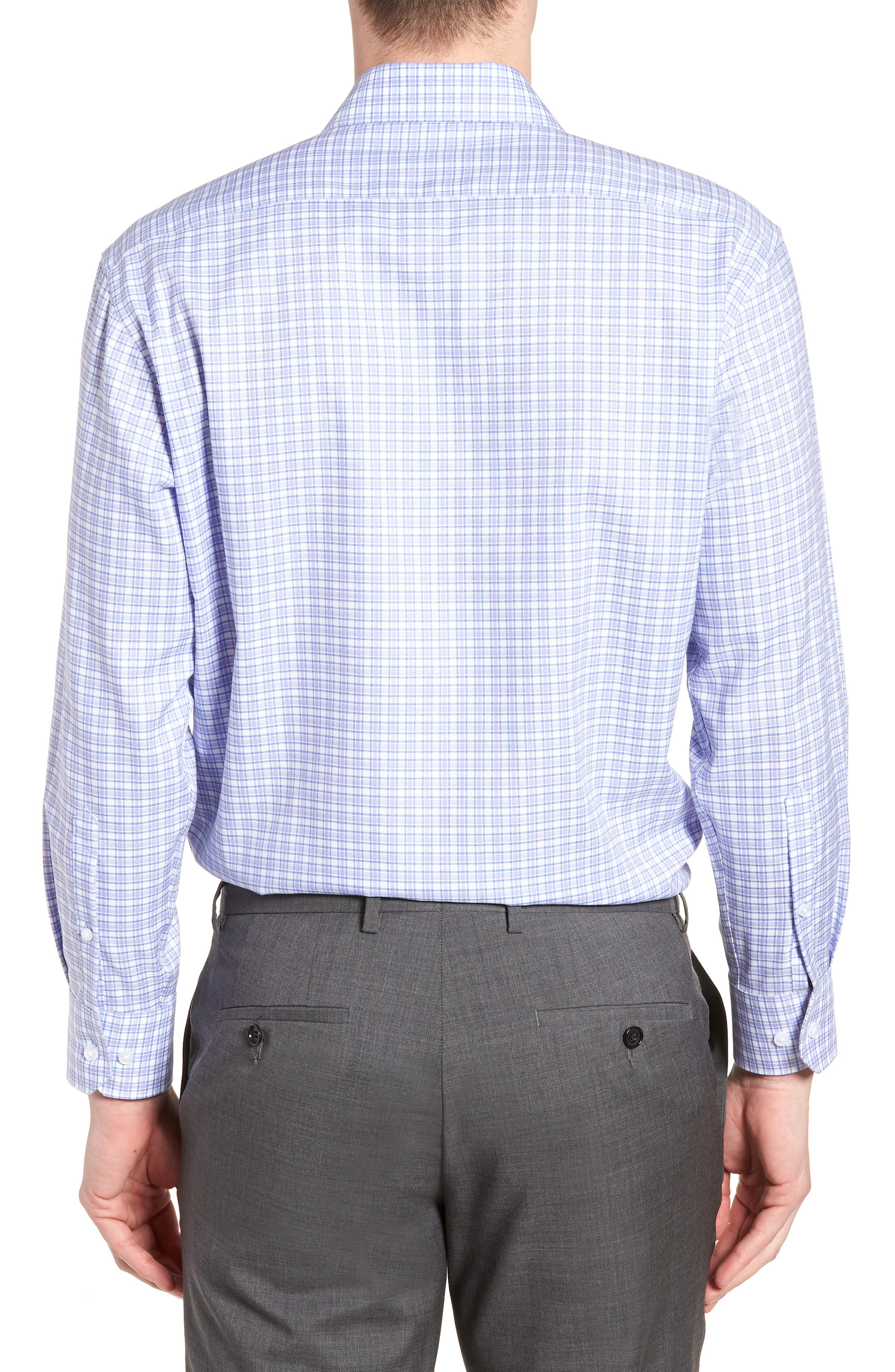 Neil Trim Fit Check Dress Shirt,                             Alternate thumbnail 3, color,                             530