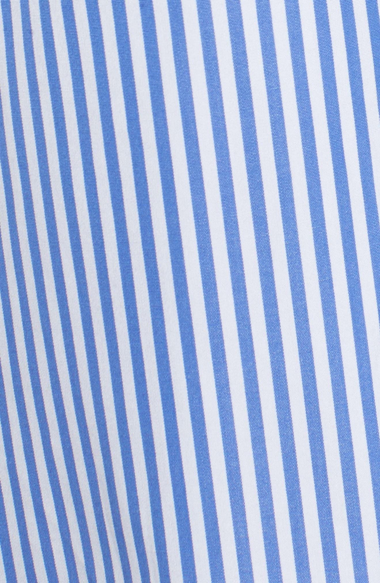 Lace-Up Stripe Shirt,                             Alternate thumbnail 5, color,                             420