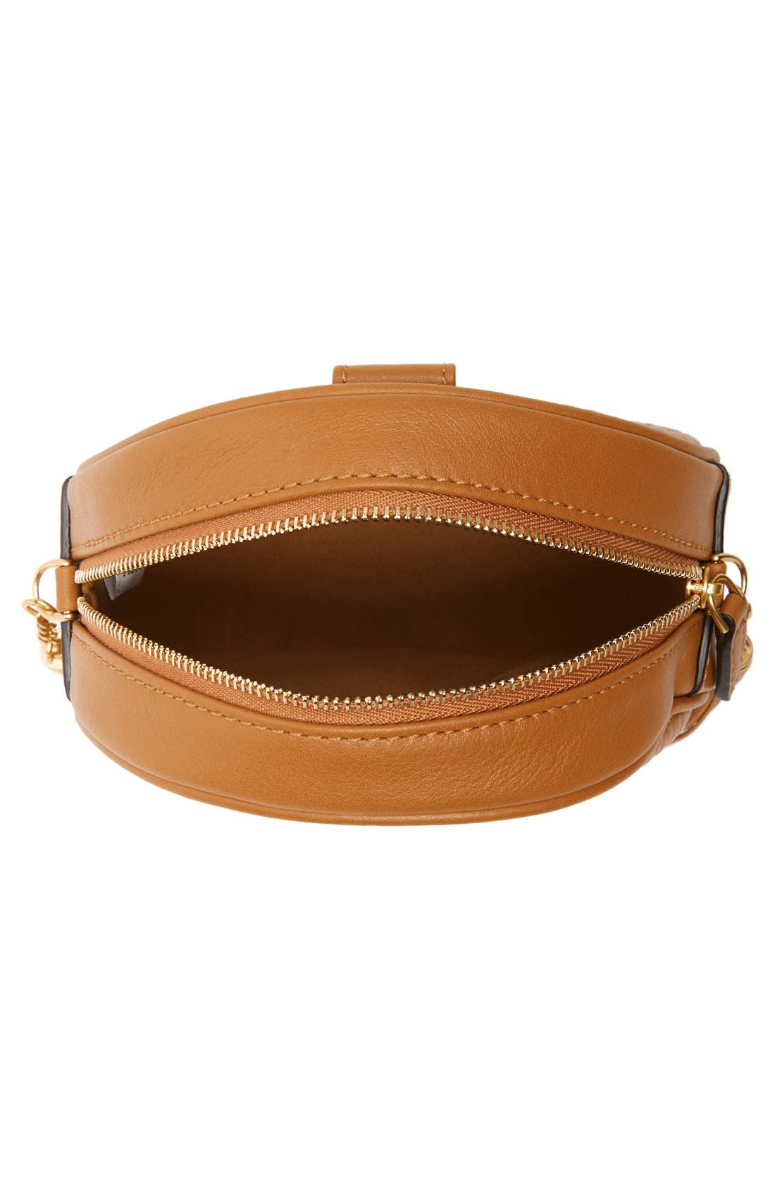 'Rabbit Tambourine Small' Round Crossbody Bag,                             Alternate thumbnail 4, color,                             200