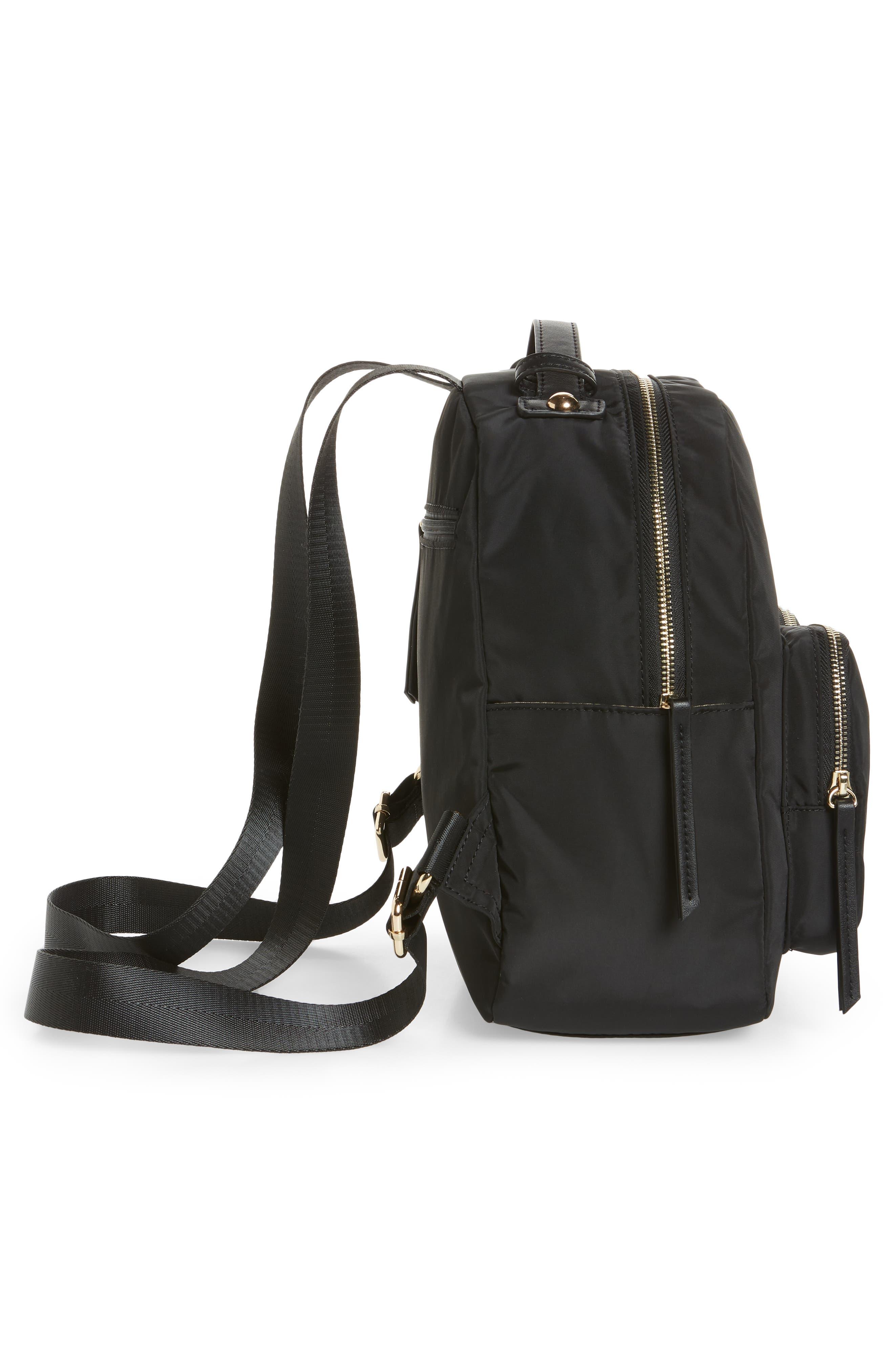 Nylon Backpack,                             Alternate thumbnail 5, color,                             001