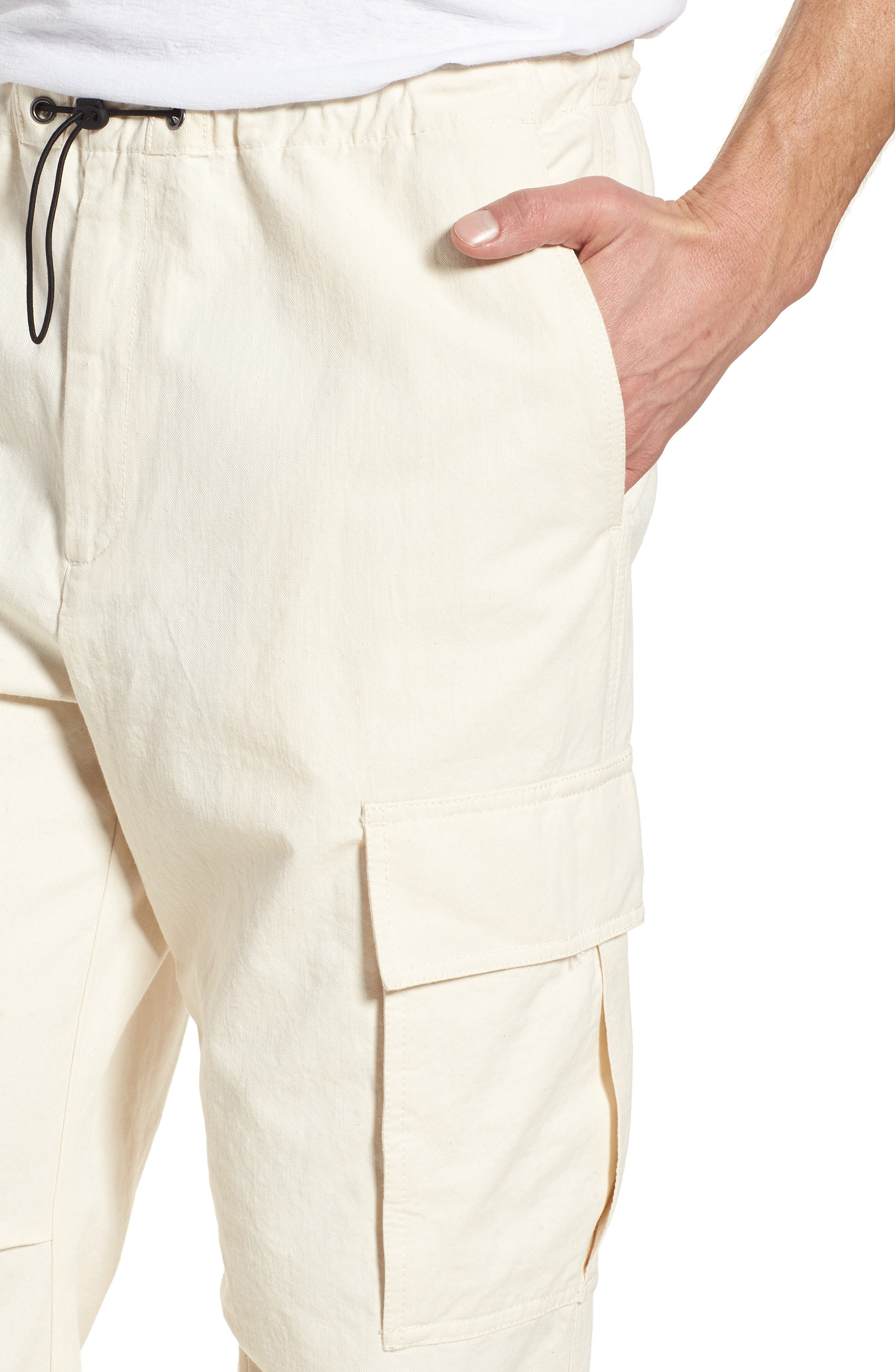 JAMES PERSE,                             Cargo Pants,                             Alternate thumbnail 4, color,                             IVORY