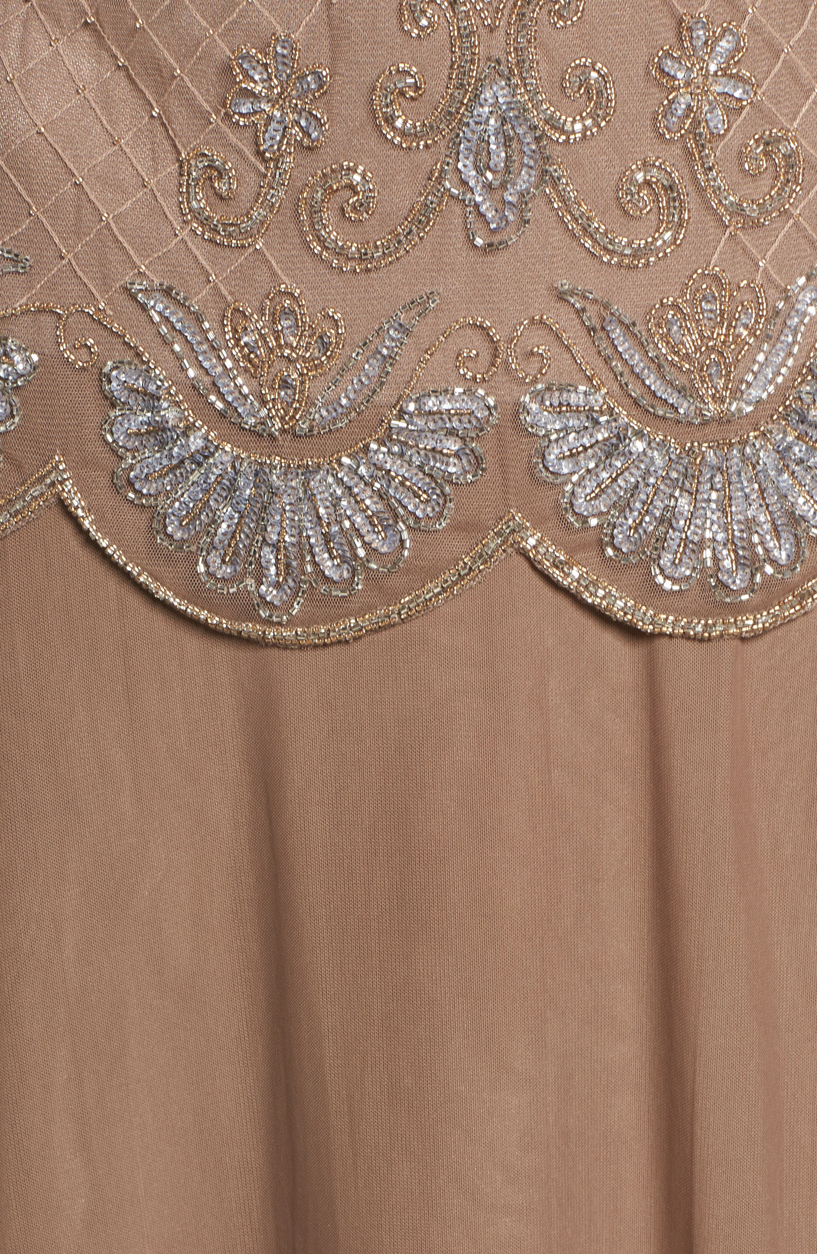 Embellished Mock Two-Piece Gown,                             Alternate thumbnail 5, color,                             230
