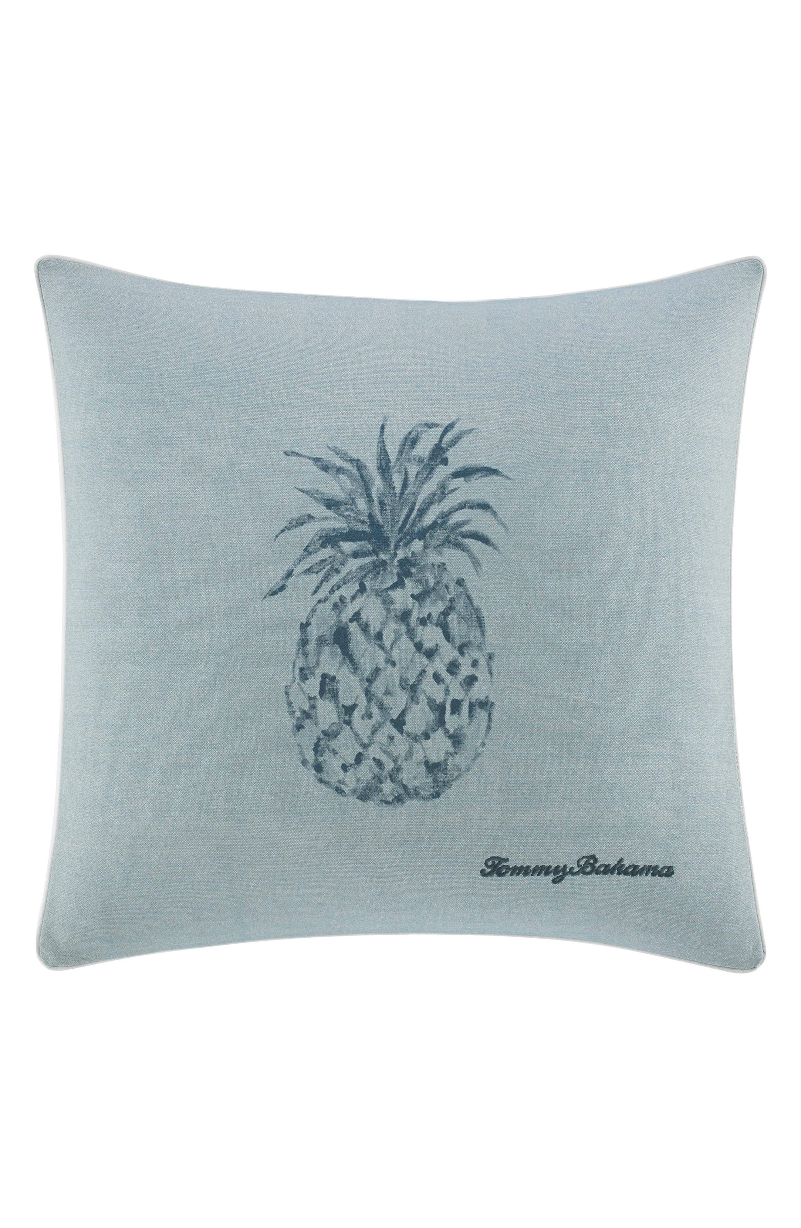 Raw Coast Pineapple Pillow,                         Main,                         color, BLUE