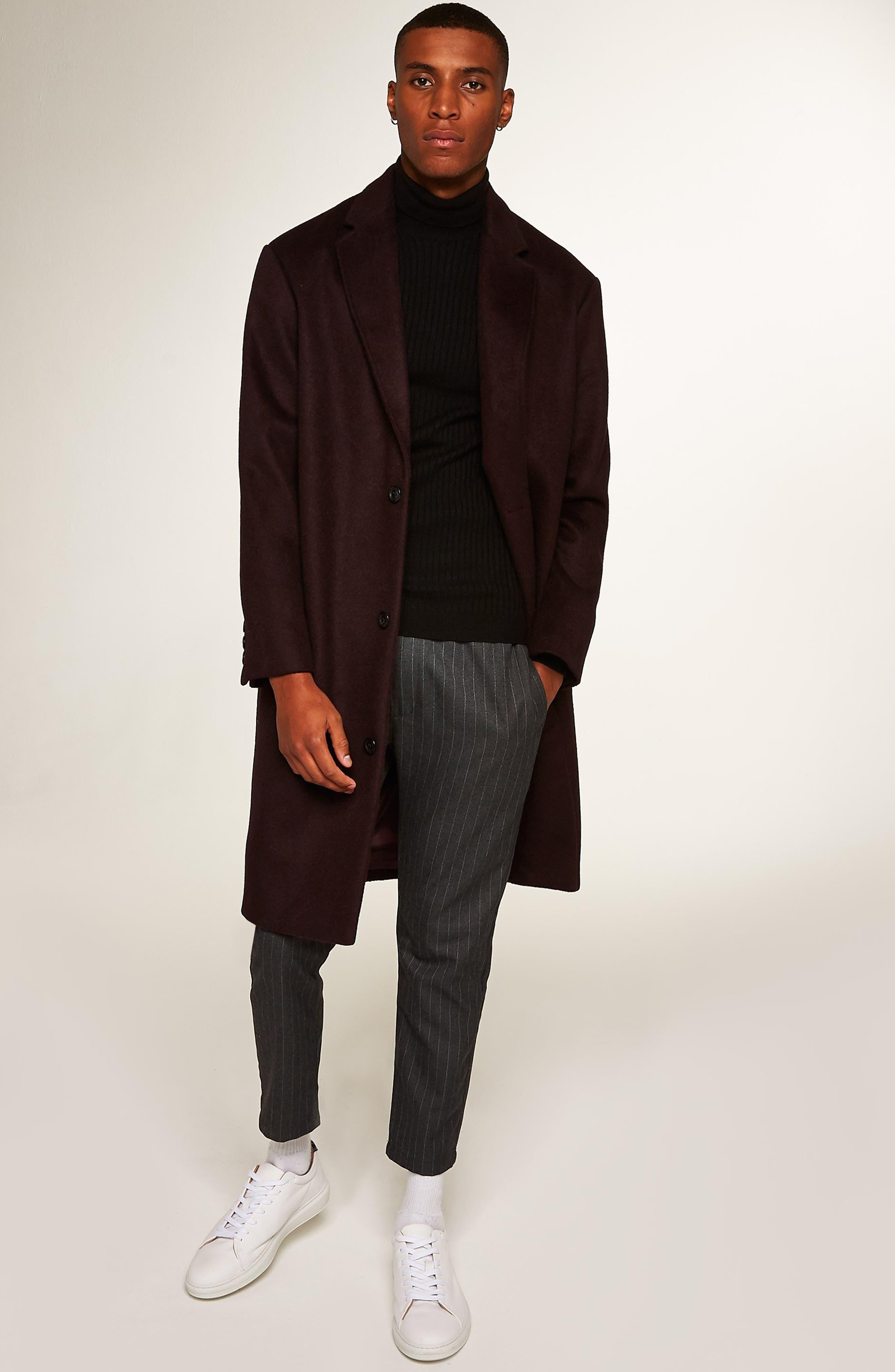 Hayden Oversize Overcoat,                             Alternate thumbnail 6, color,                             BURGUNDY