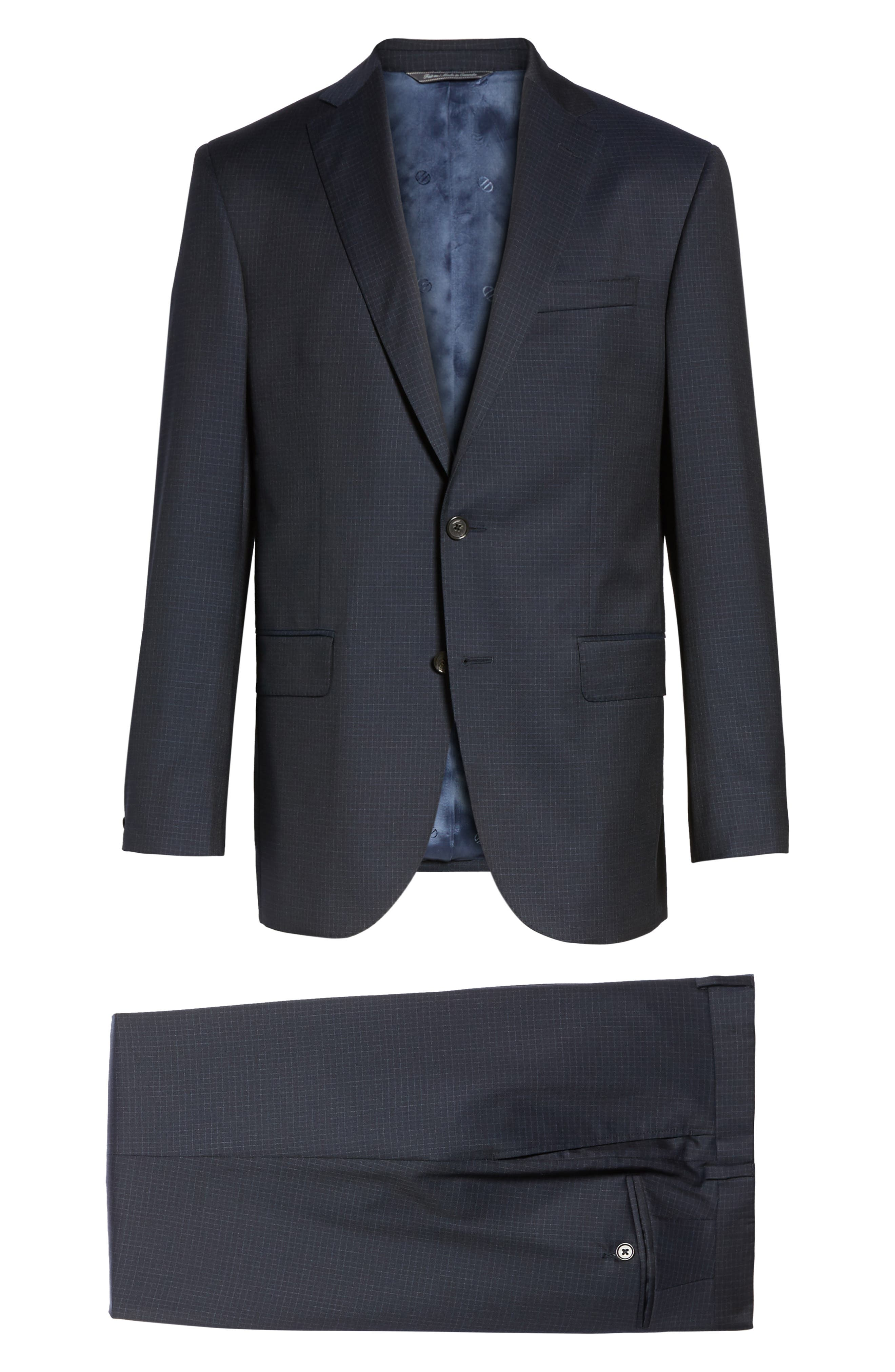 Ryan Classic Fit Check Wool Suit,                             Alternate thumbnail 8, color,                             410