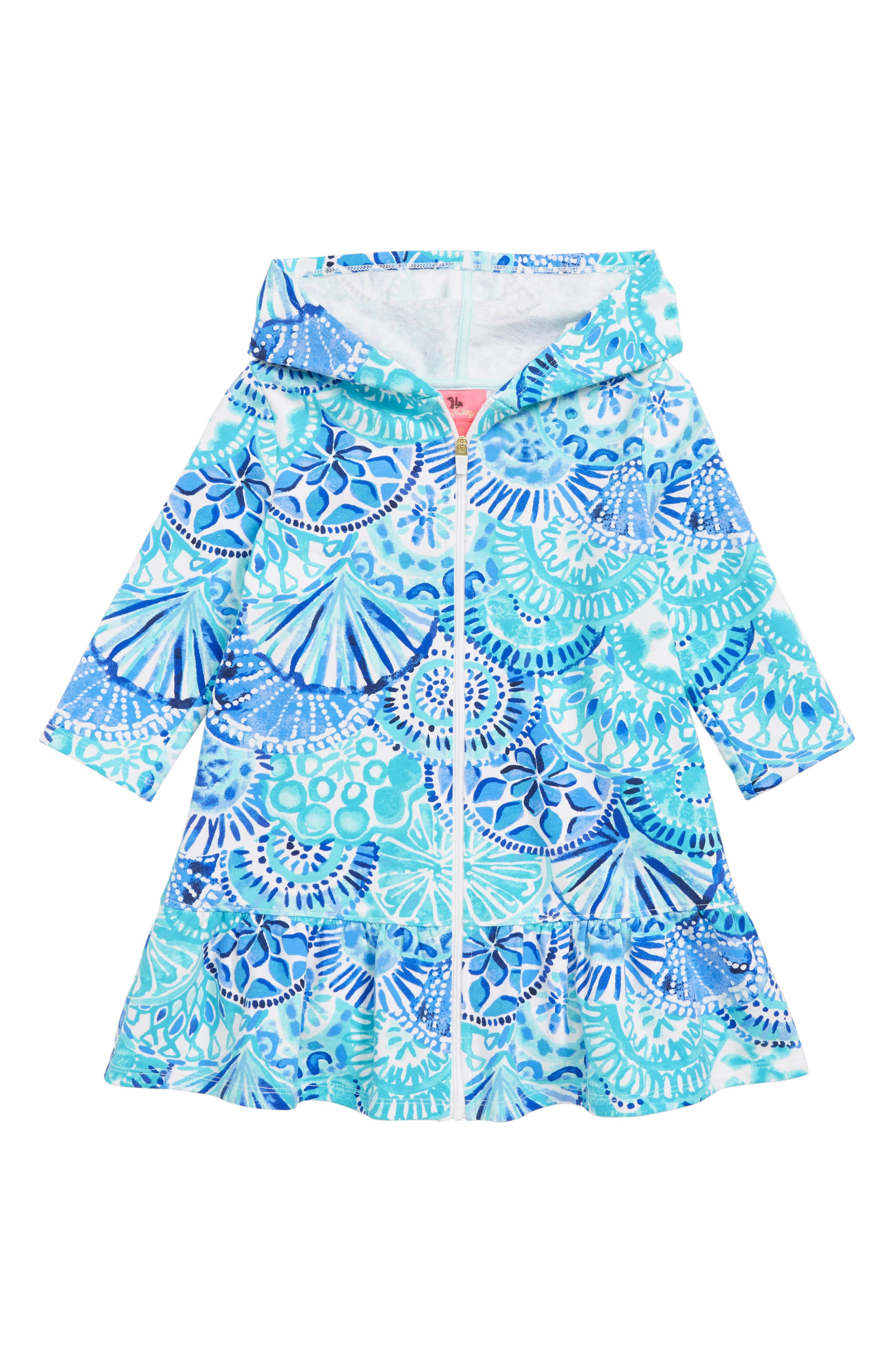 Cooke Cover-Up Dress, Main, color, TURQUOISE OASIS HALF SHELL