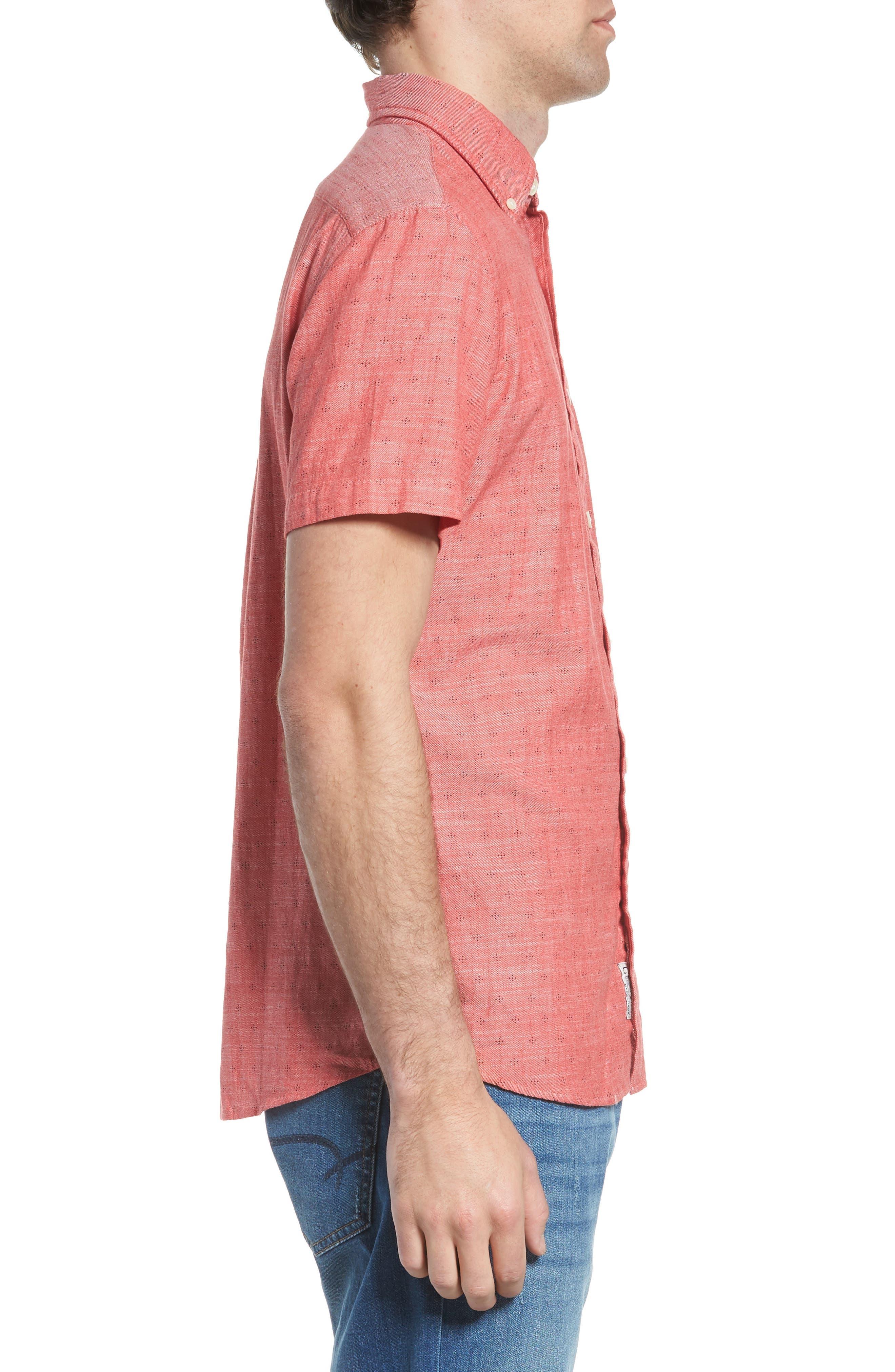 Pearson Print Short Sleeve Sport Shirt,                             Alternate thumbnail 3, color,                             648